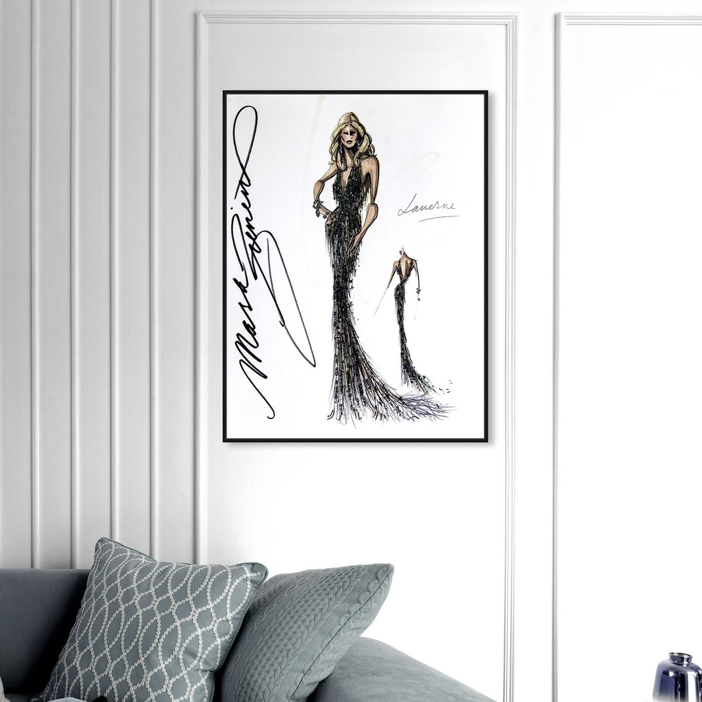 Hanging view of Mark Zunino - Laverne featuring fashion and glam and dress art.