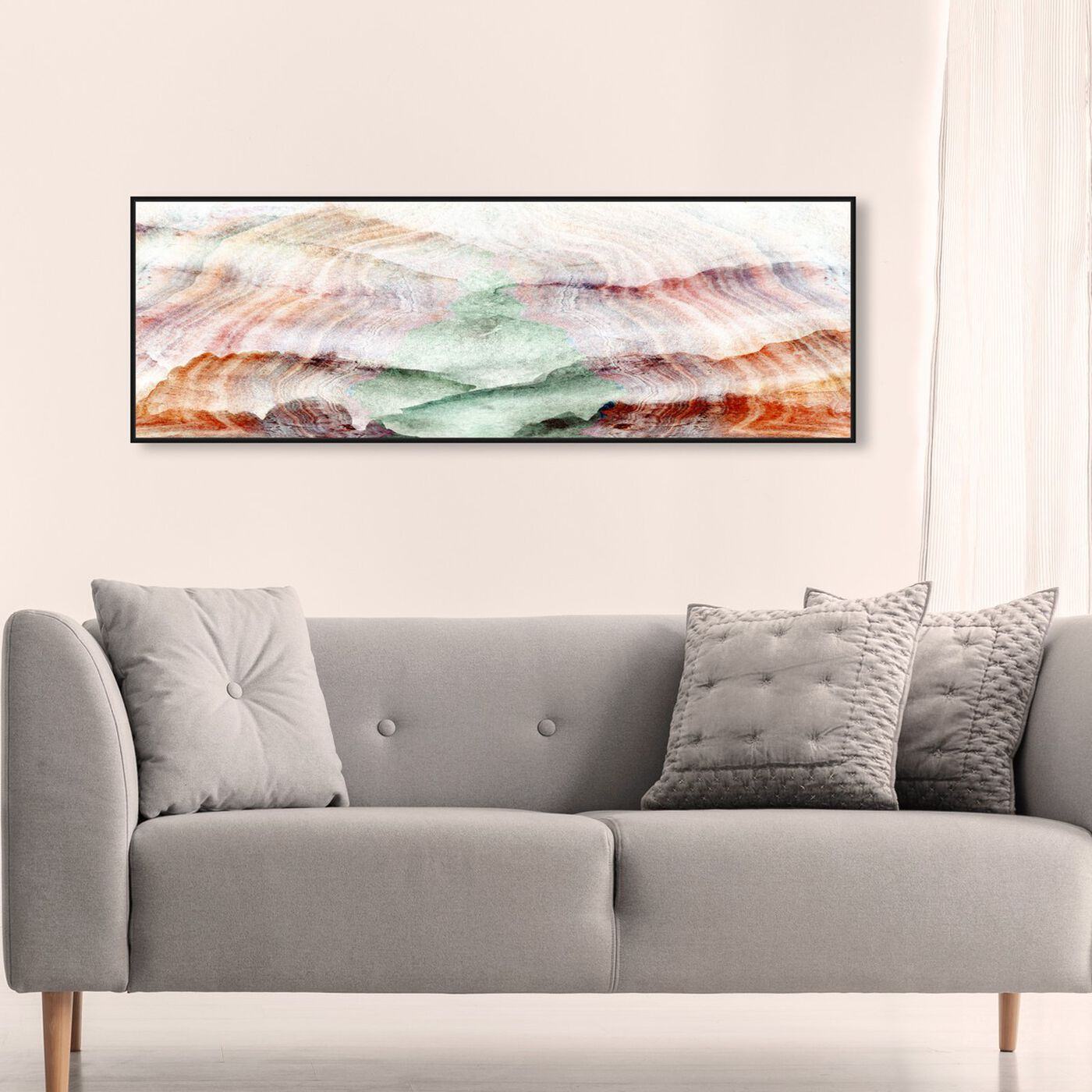 Hanging view of Selo Earthy featuring abstract and crystals art.