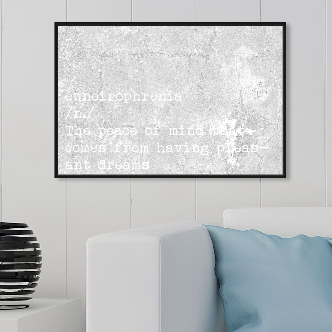 Hanging view of Pleasant Dreams featuring typography and quotes and motivational quotes and sayings art.