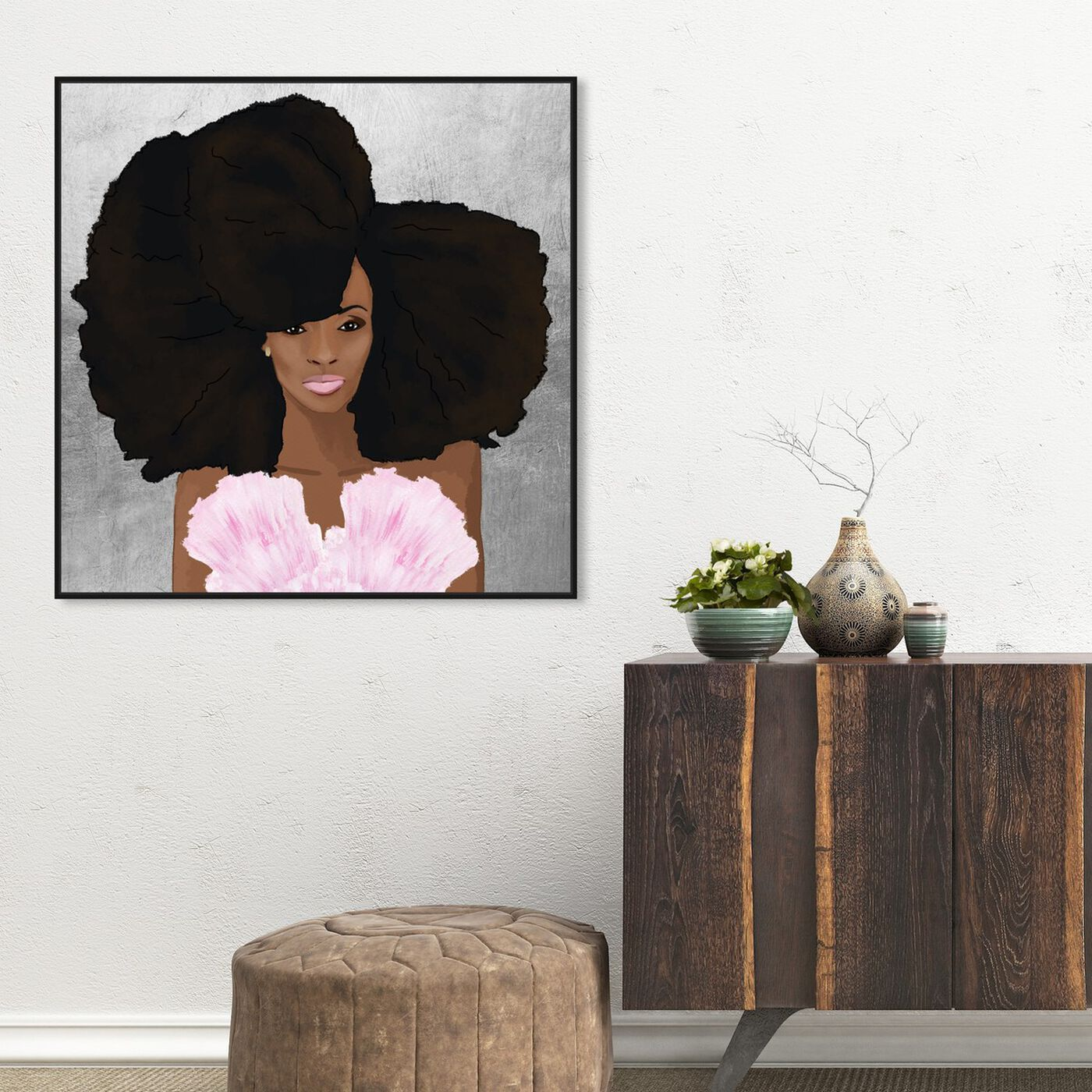 Hanging view of Hair and Makeup featuring fashion and glam and portraits art.