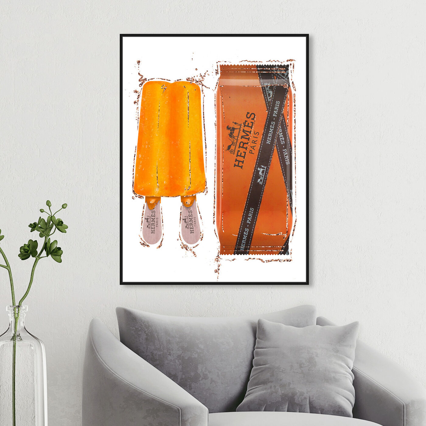 Hanging view of Sweet Fashion Orange Pop featuring fashion and glam and lifestyle art.