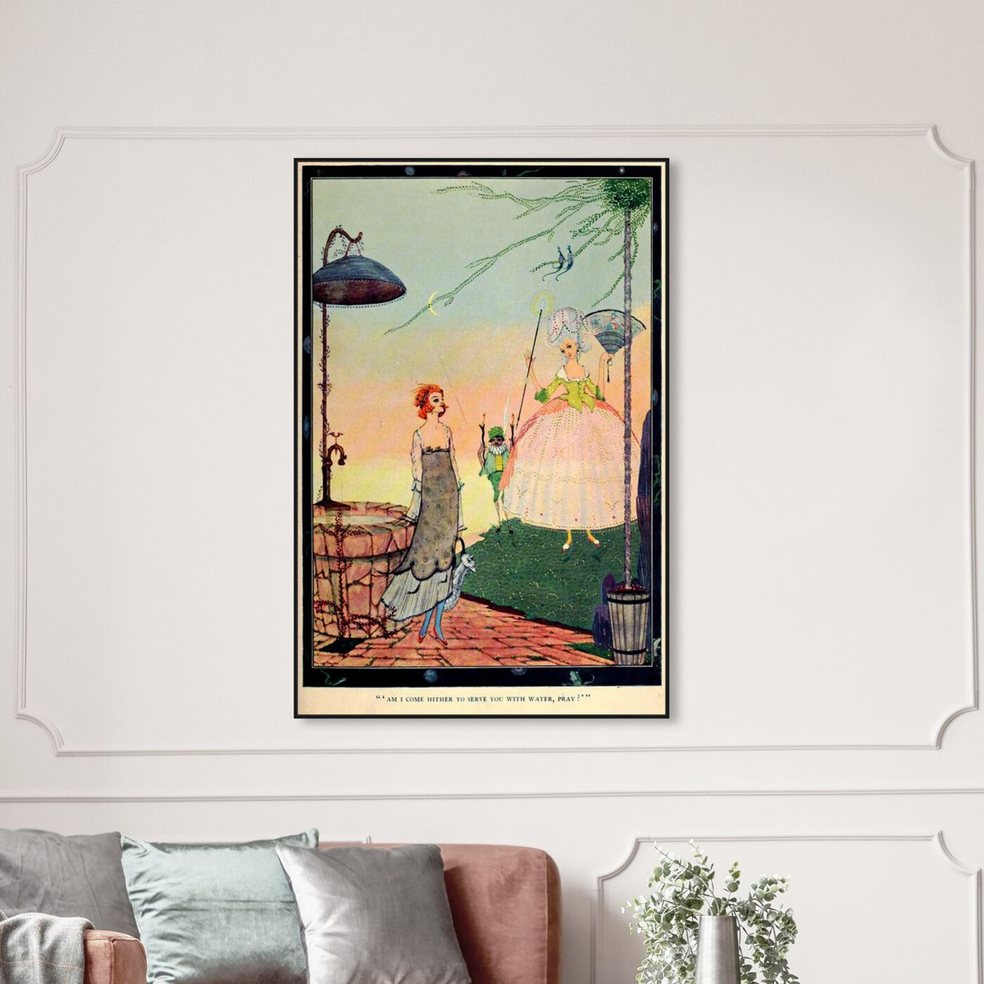 Hanging view of Cinderella Fairy featuring fantasy and sci-fi and fairy tales art.