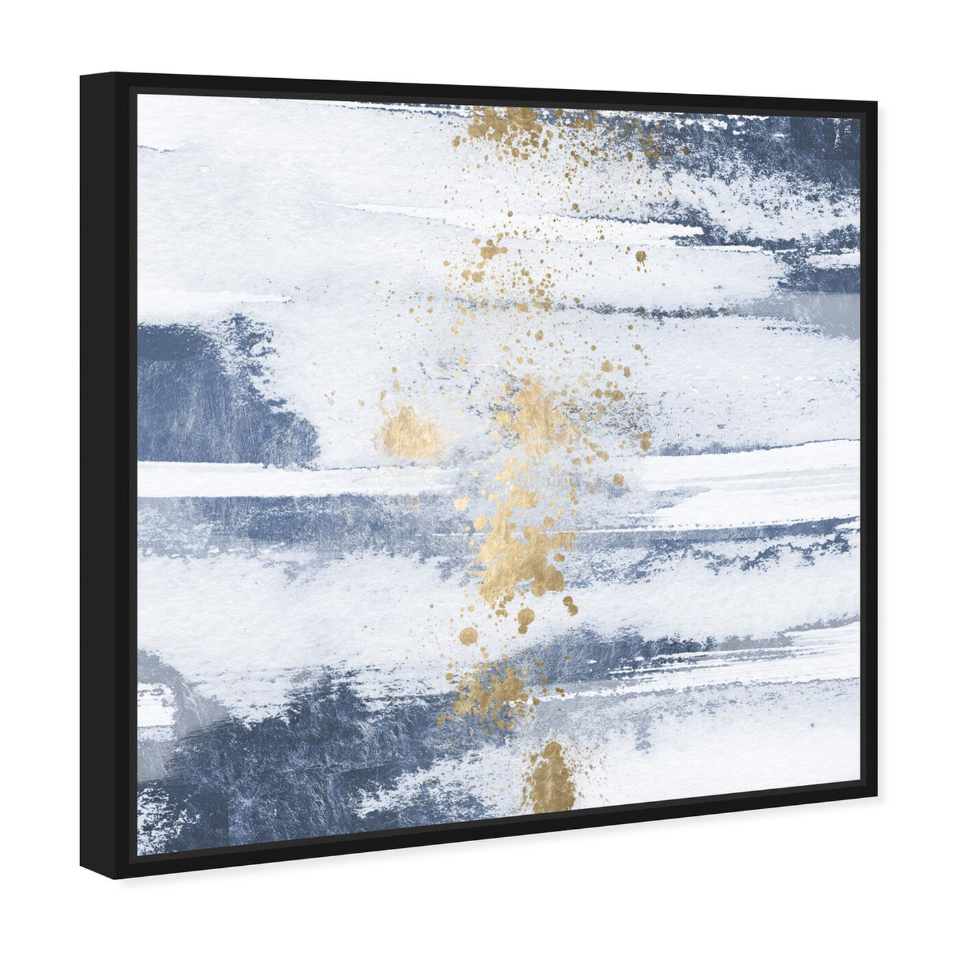 Angled view of Sun and Rain Sea featuring abstract and paint art.
