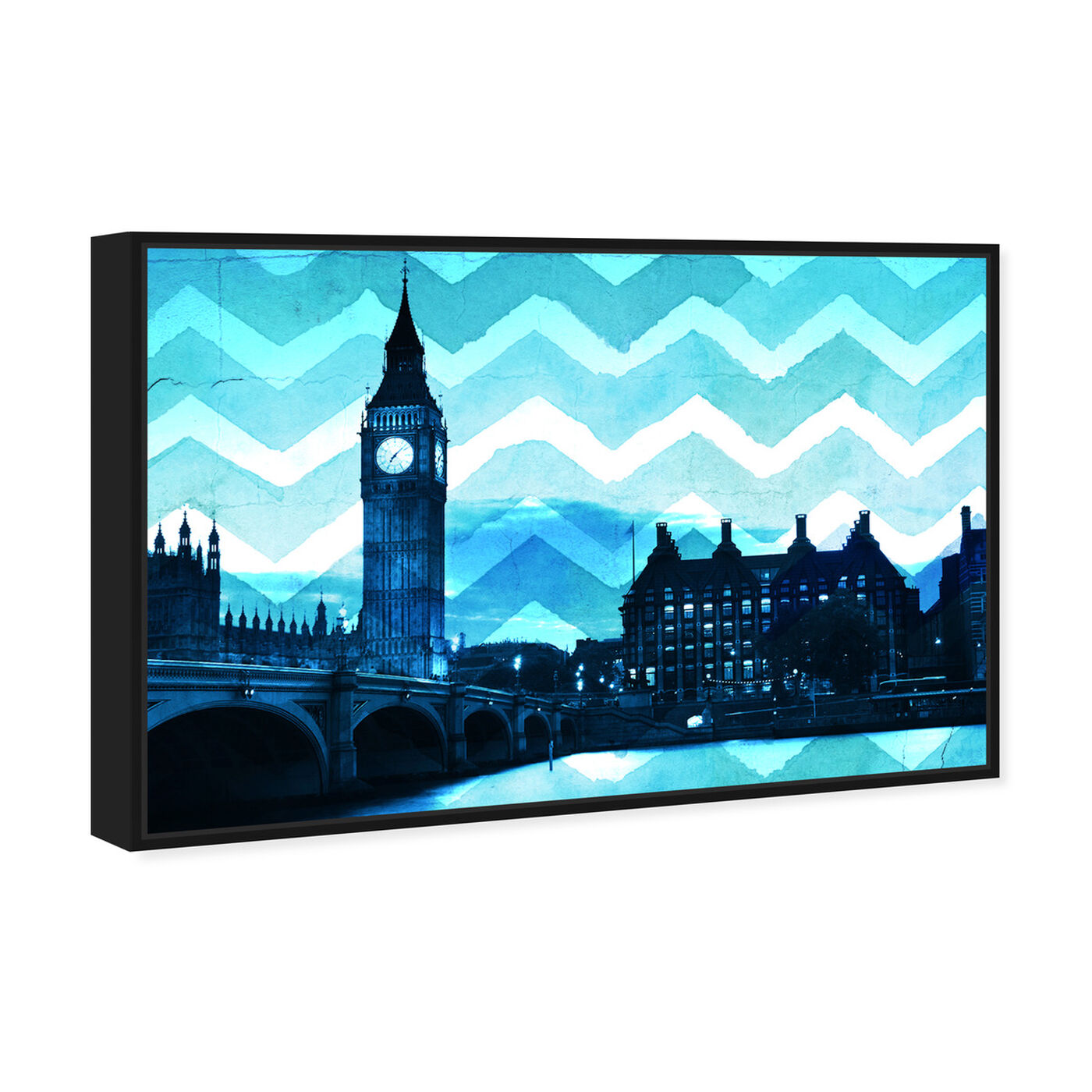 Angled view of London Chevron featuring cities and skylines and european cities art.