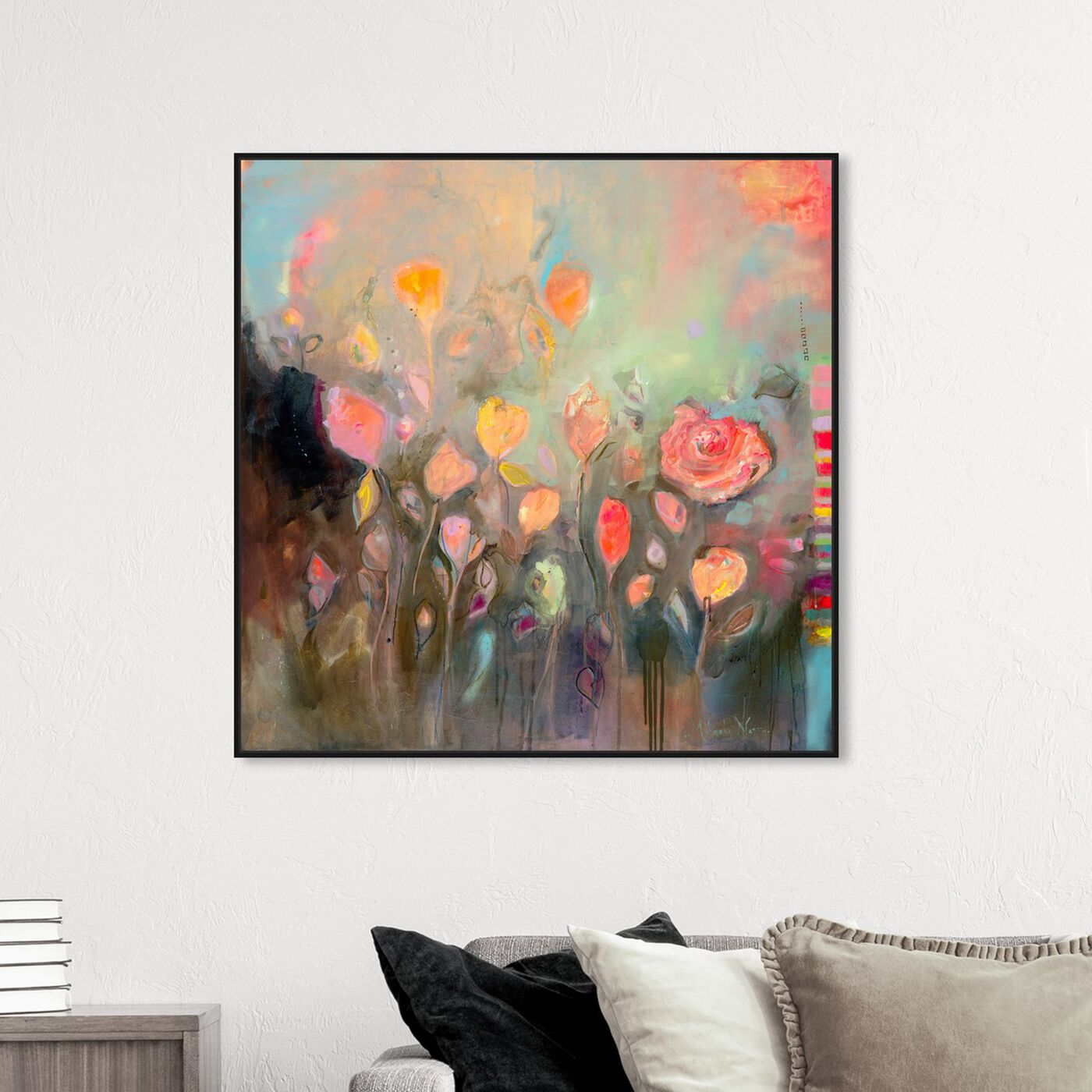Hanging view of Eternal State of Mind by Michaela Nessim Canvas Art featuring abstract and paint art.