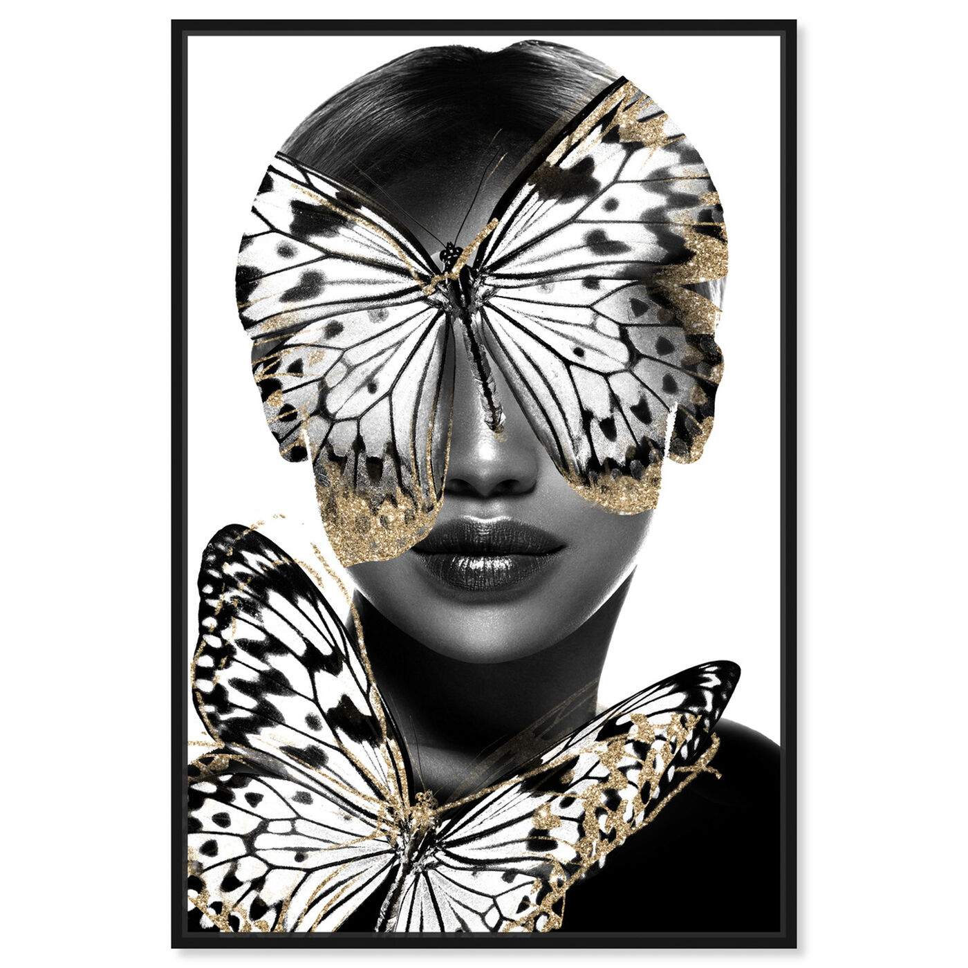 Front view of Royalty of Monarch Wings featuring fashion and glam and portraits art.