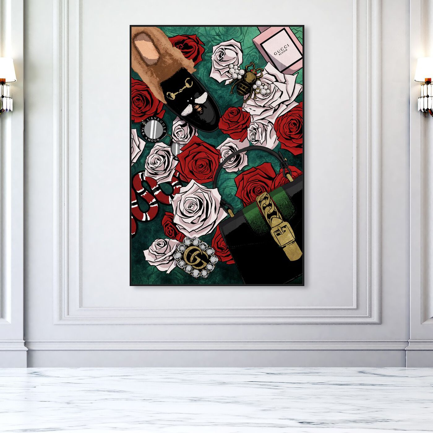 Hanging view of Garden of Glam featuring fashion and glam and lifestyle art.