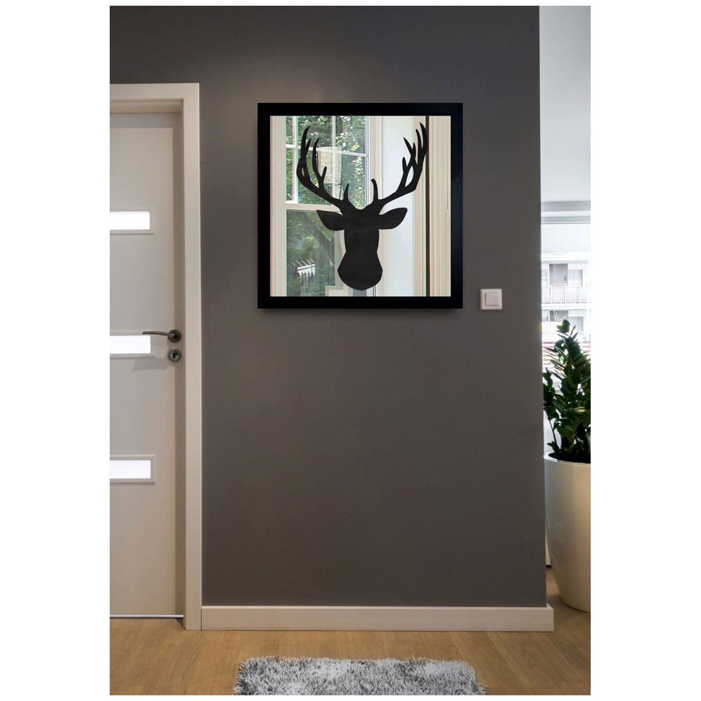 Hanging view of Deer Me featuring animals and zoo and wild animals art.