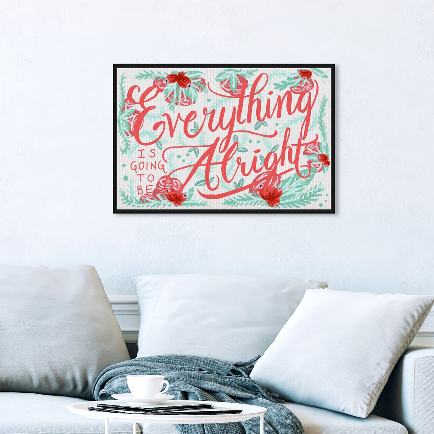 Hanging view of Alright Minty I featuring typography and quotes and inspirational quotes and sayings art.