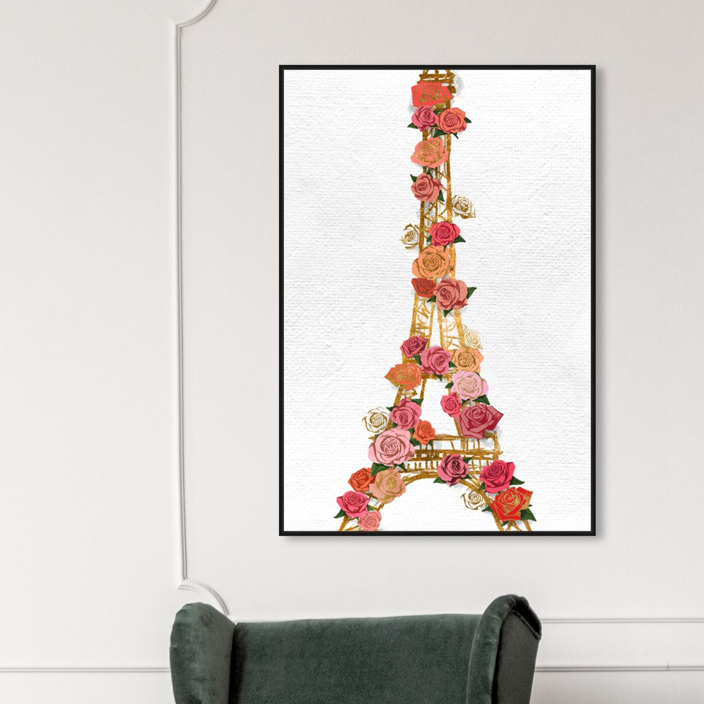 Hanging view of Gold Lattice featuring fashion and glam and travel essentials art.
