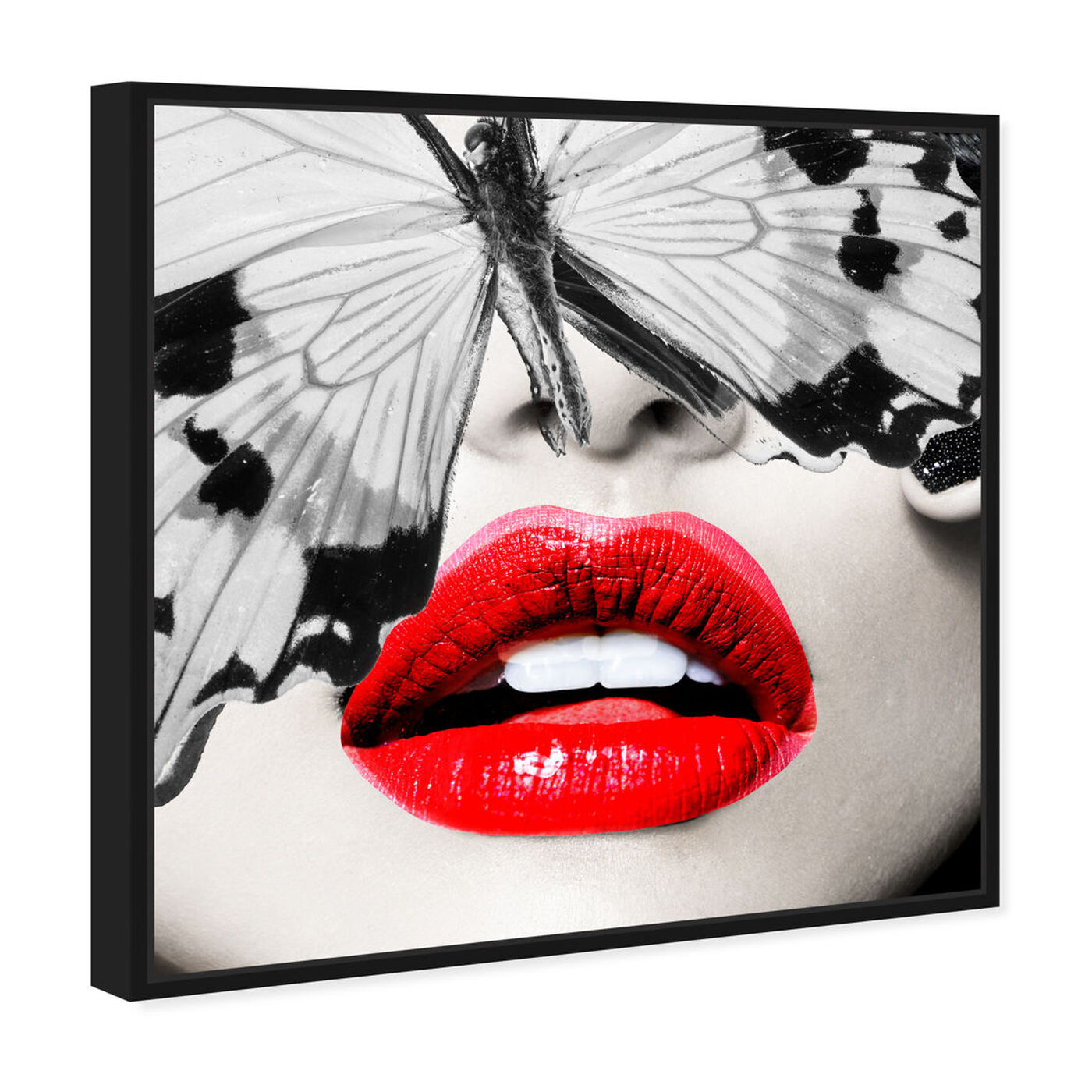 Angled view of Butterfly Lips featuring fashion and glam and lips art.