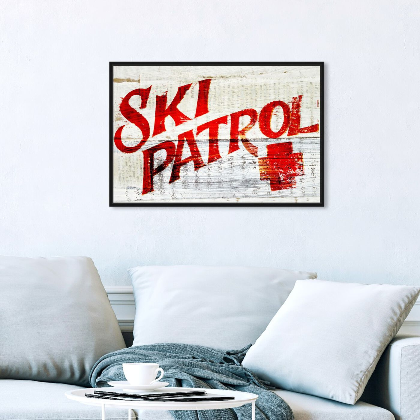 Hanging view of Ski Patrol Vintage featuring advertising and posters art.