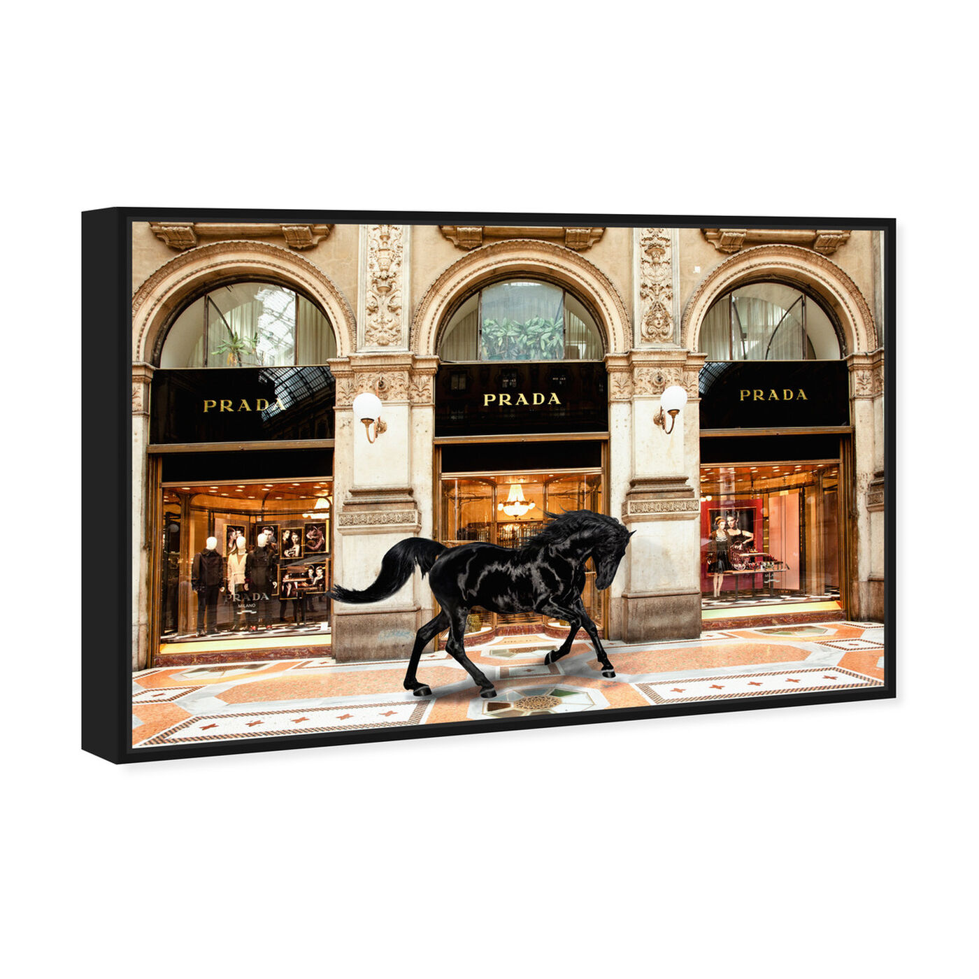 Angled view of Royal Shopping in Italy featuring fashion and glam and lifestyle art.