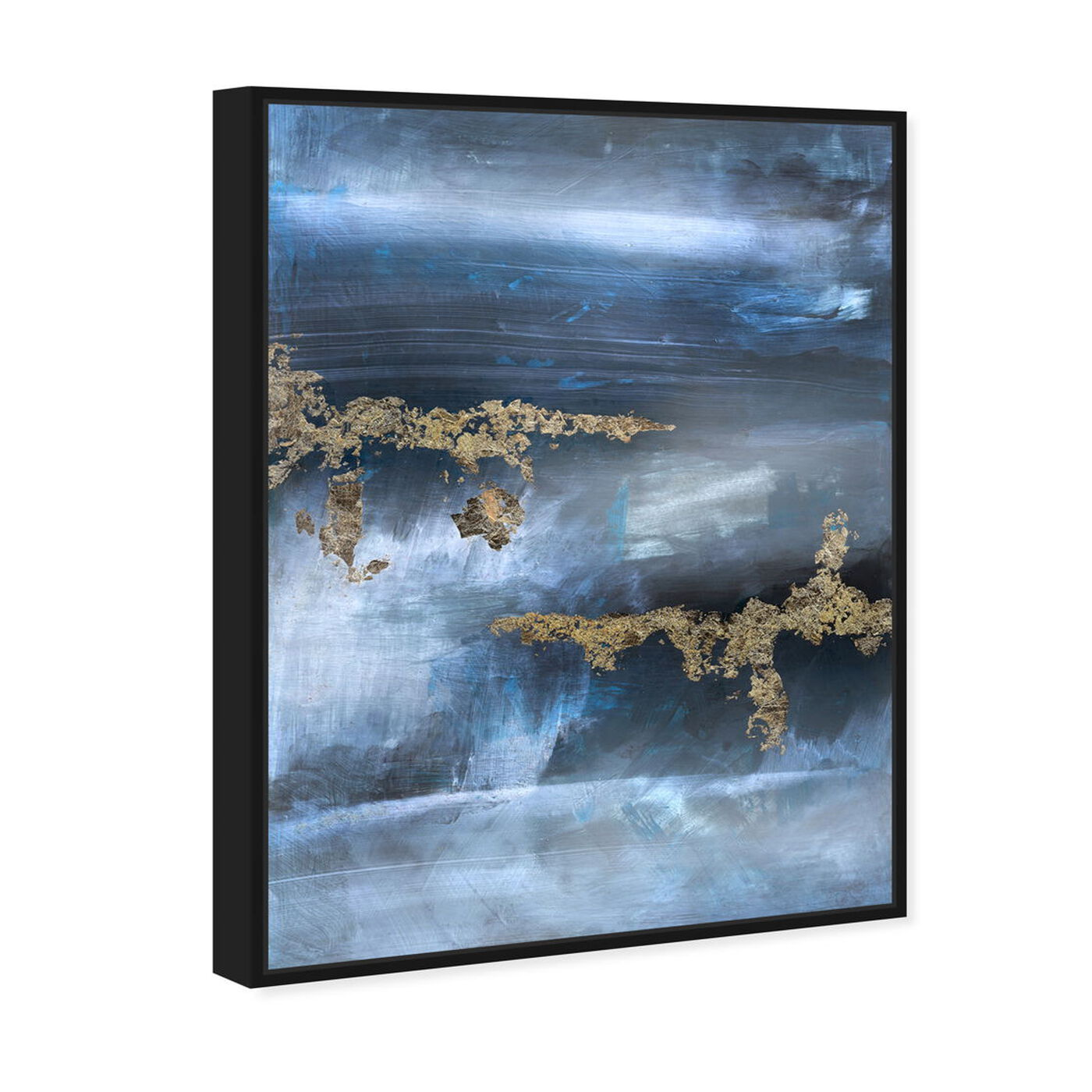 Angled view of Golden blue featuring abstract and paint art.