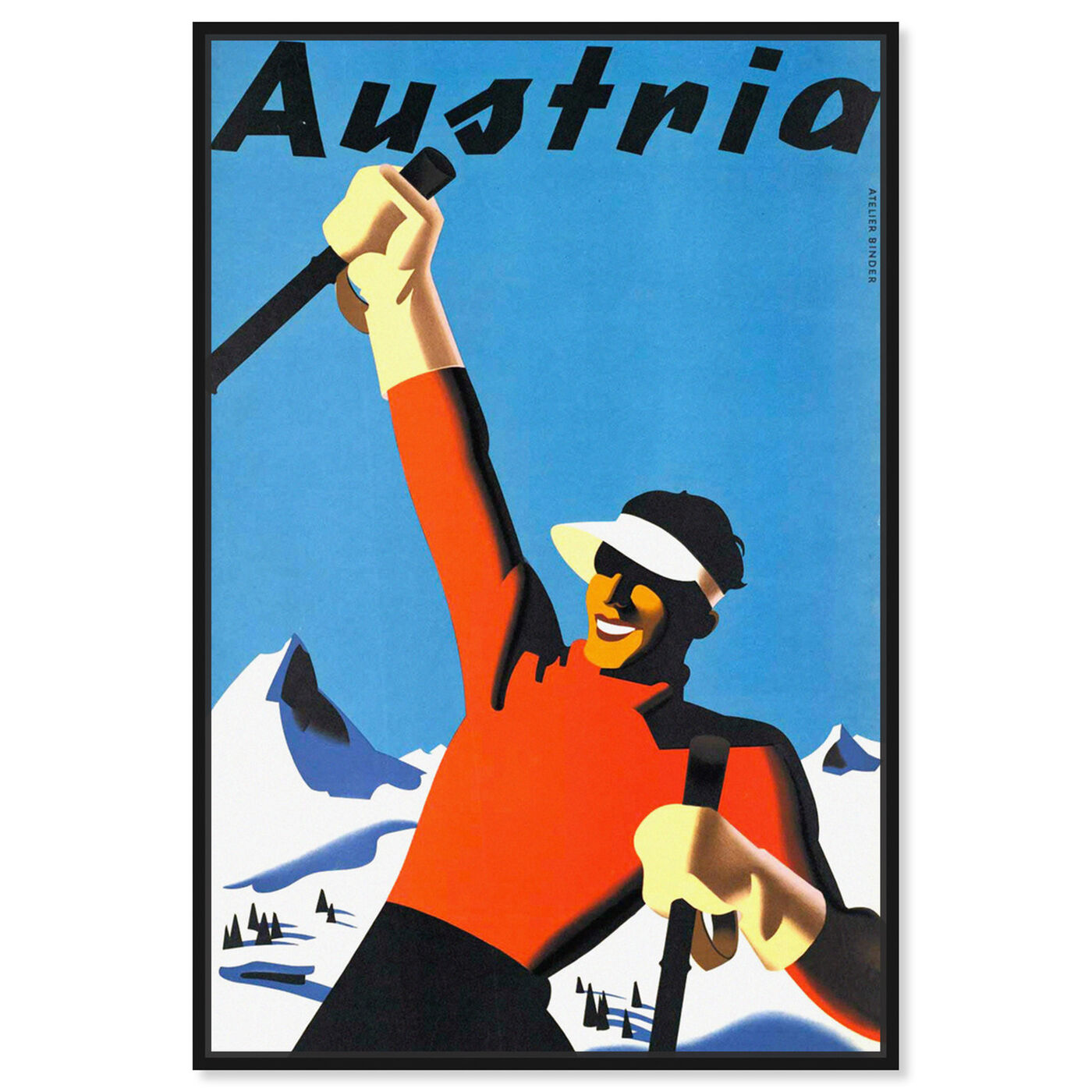 Front view of Austria featuring world and countries and european countries art.