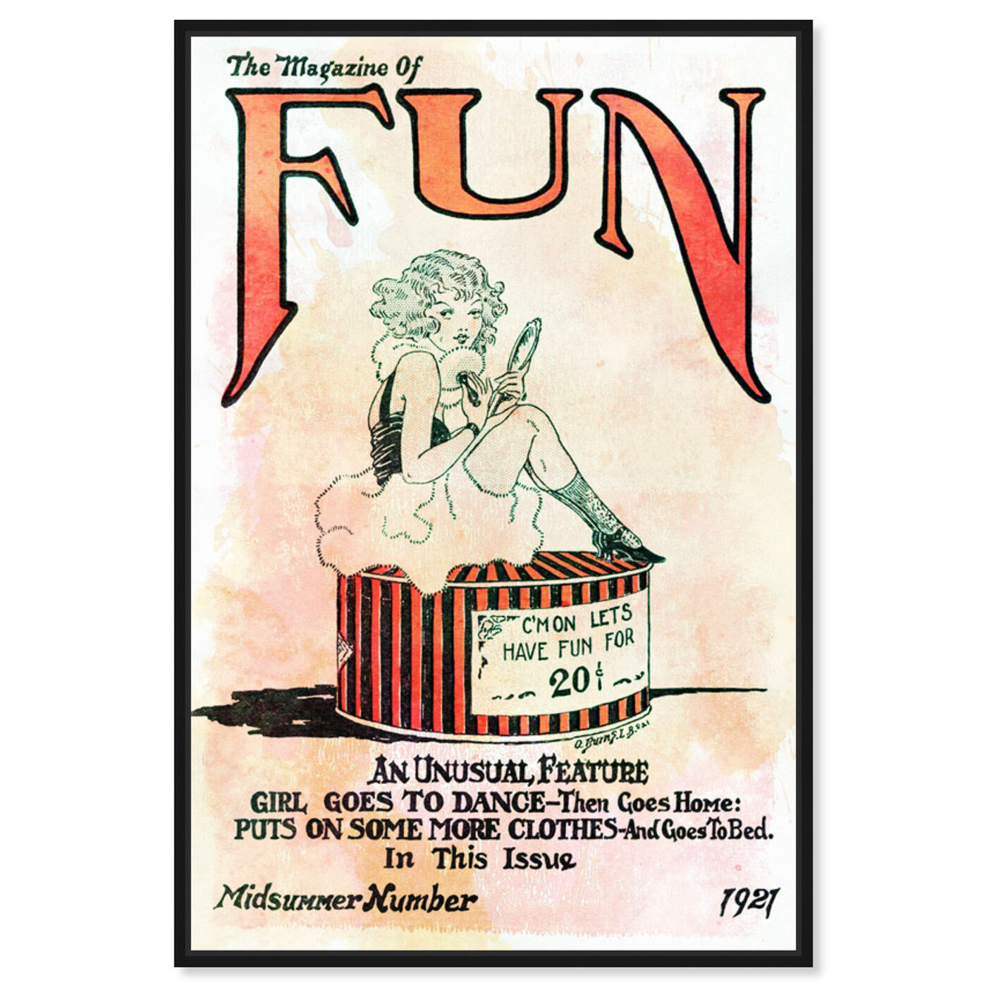 Front view of Let's Have Fun featuring advertising and comics art.