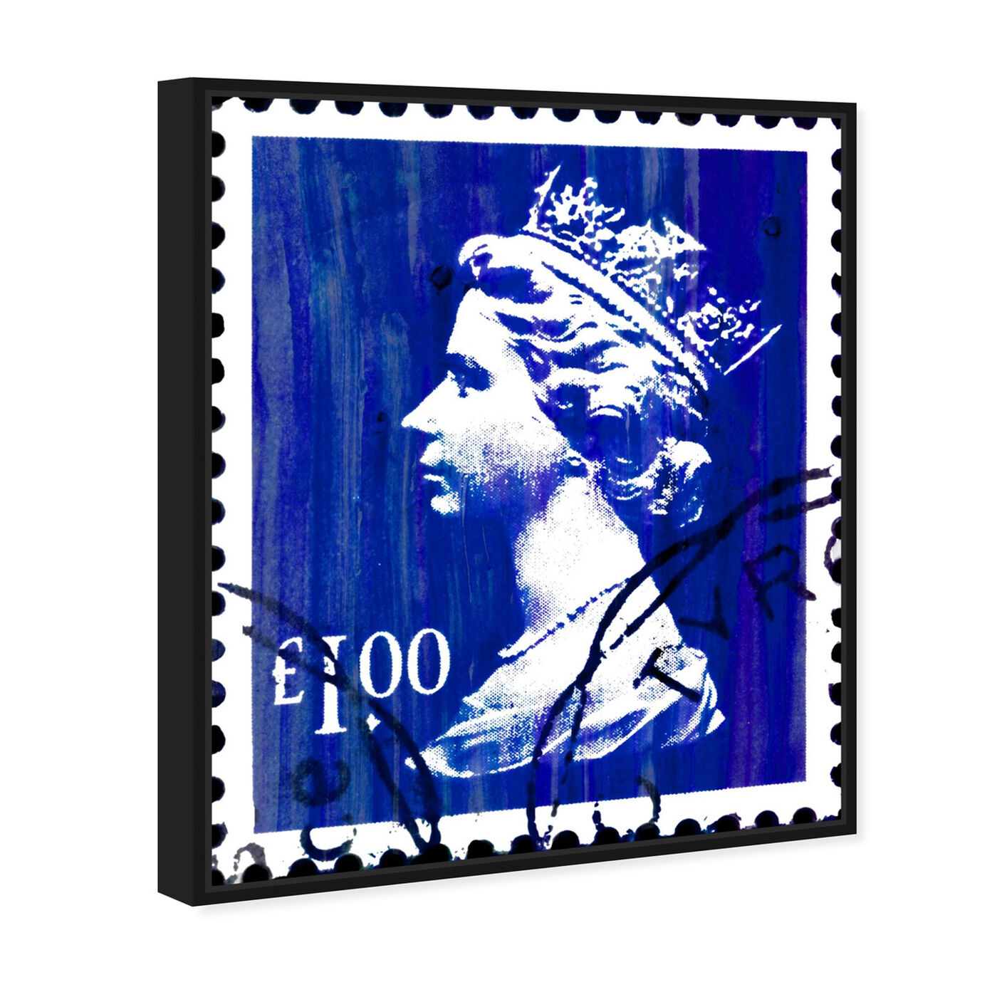 Angled view of Save The Queen One featuring world and countries and european cultures art.