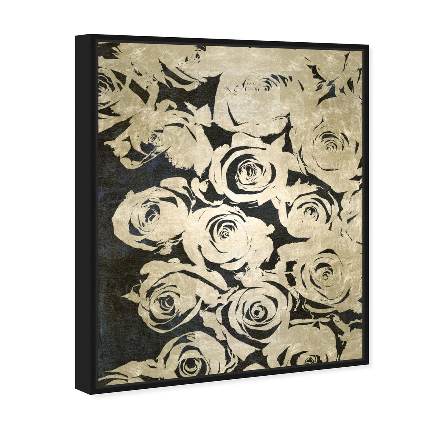 Angled view of Dark Rose I featuring floral and botanical and florals art.