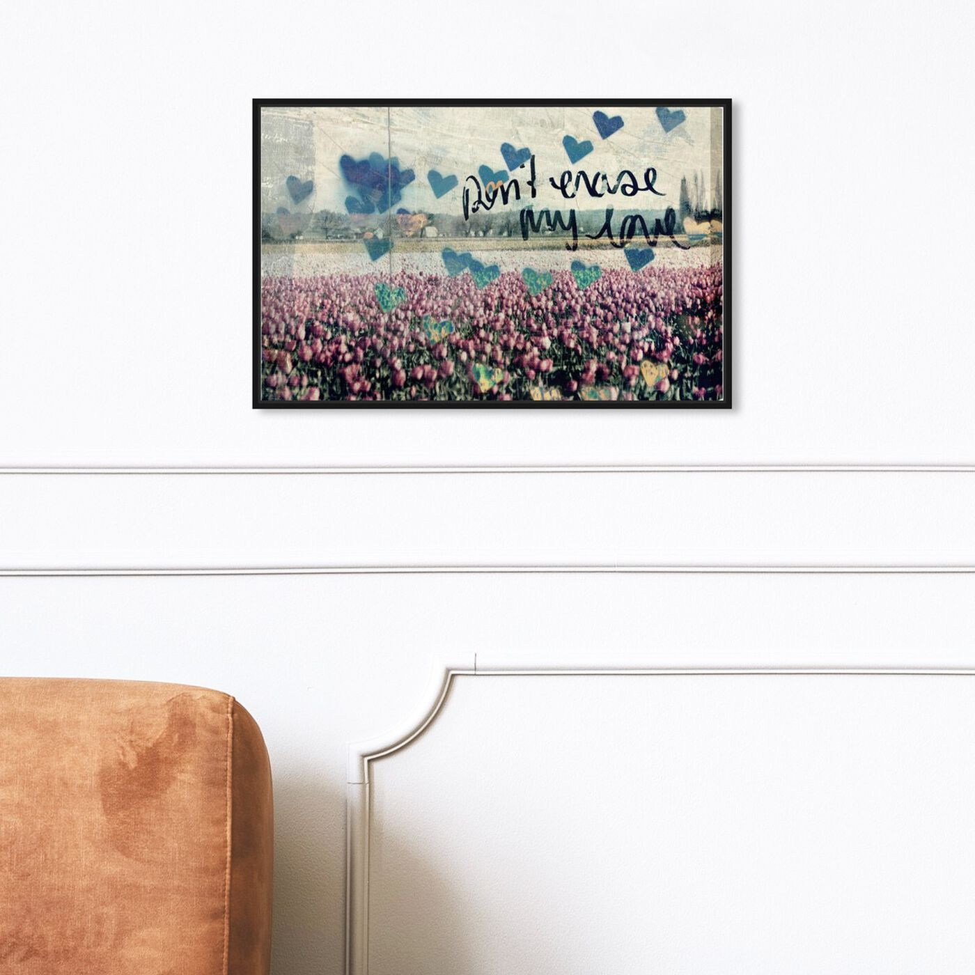 Hanging view of Don't Erase My Love featuring typography and quotes and love quotes and sayings art.