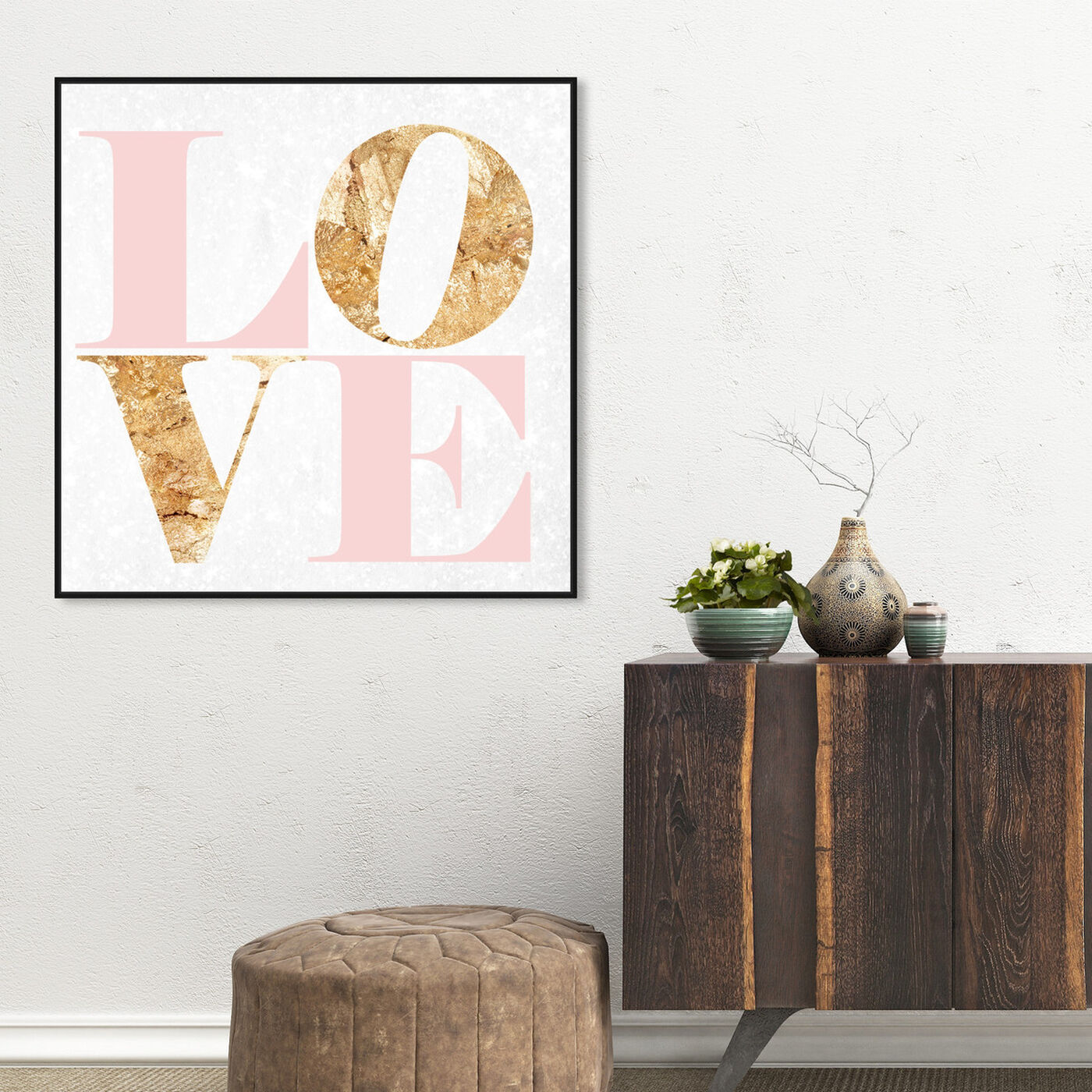 Hanging view of Build On Love Romance featuring typography and quotes and love quotes and sayings art.