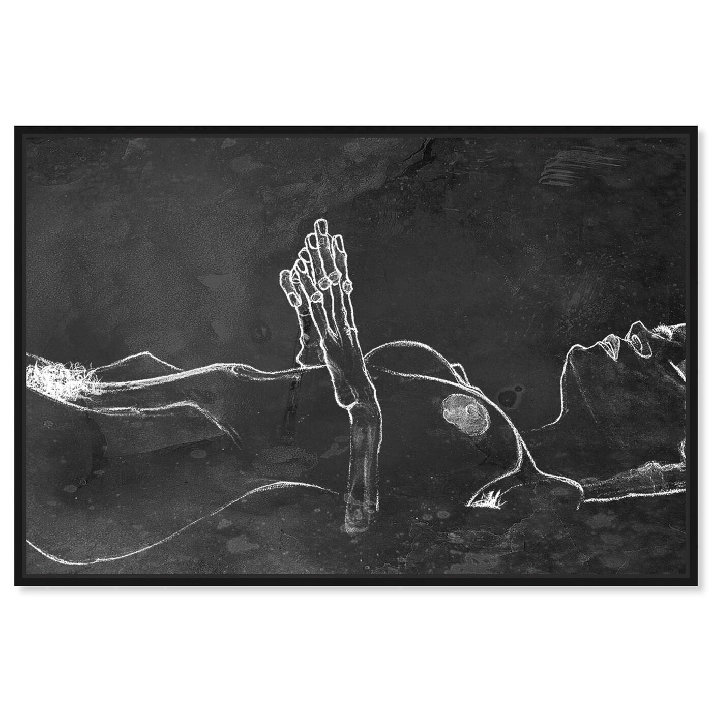 Front view of Schiele Nude Chalk featuring classic and figurative and nudes art.