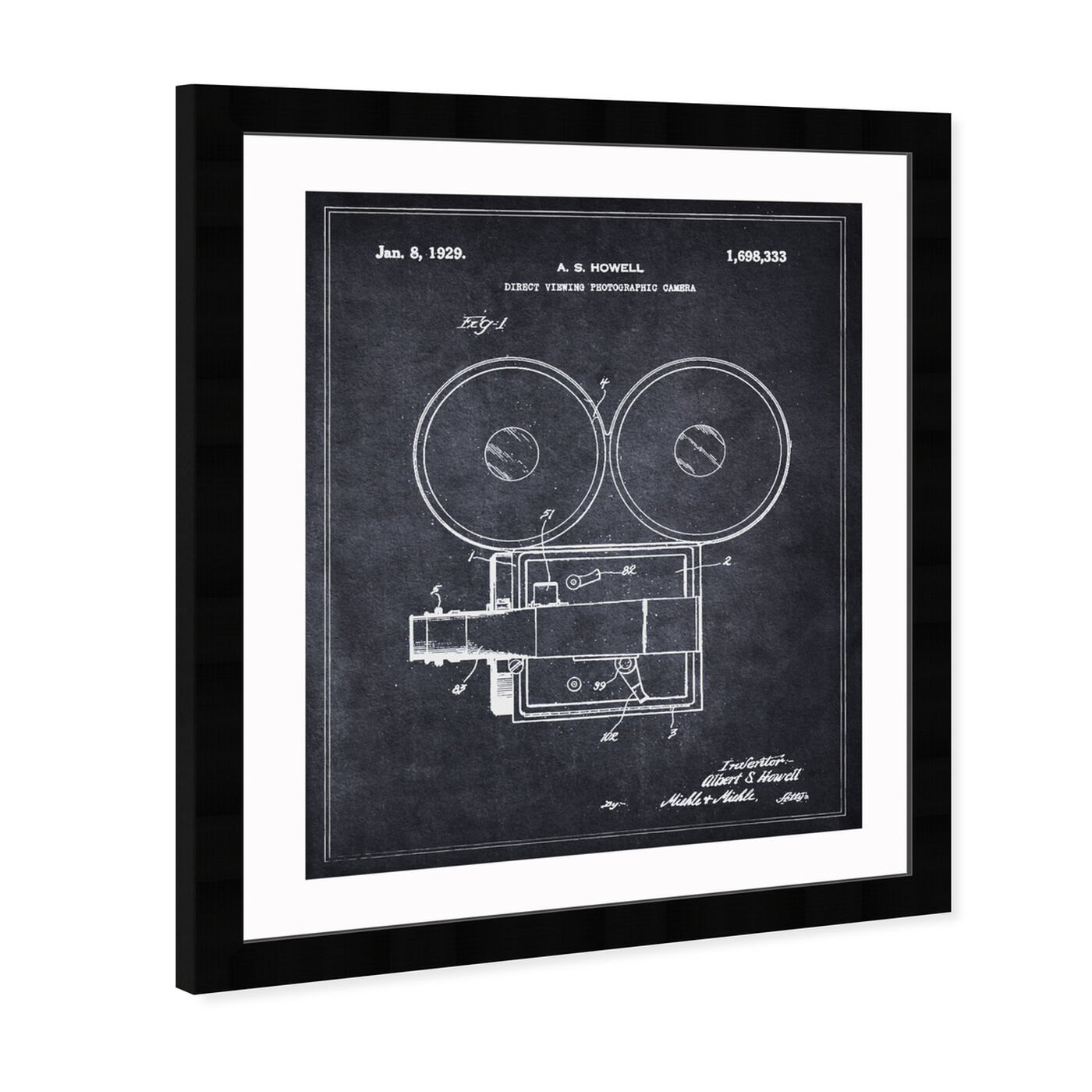 Angled view of Direct Viewing Photographic Camera 1929  featuring people and portraits and professions art.