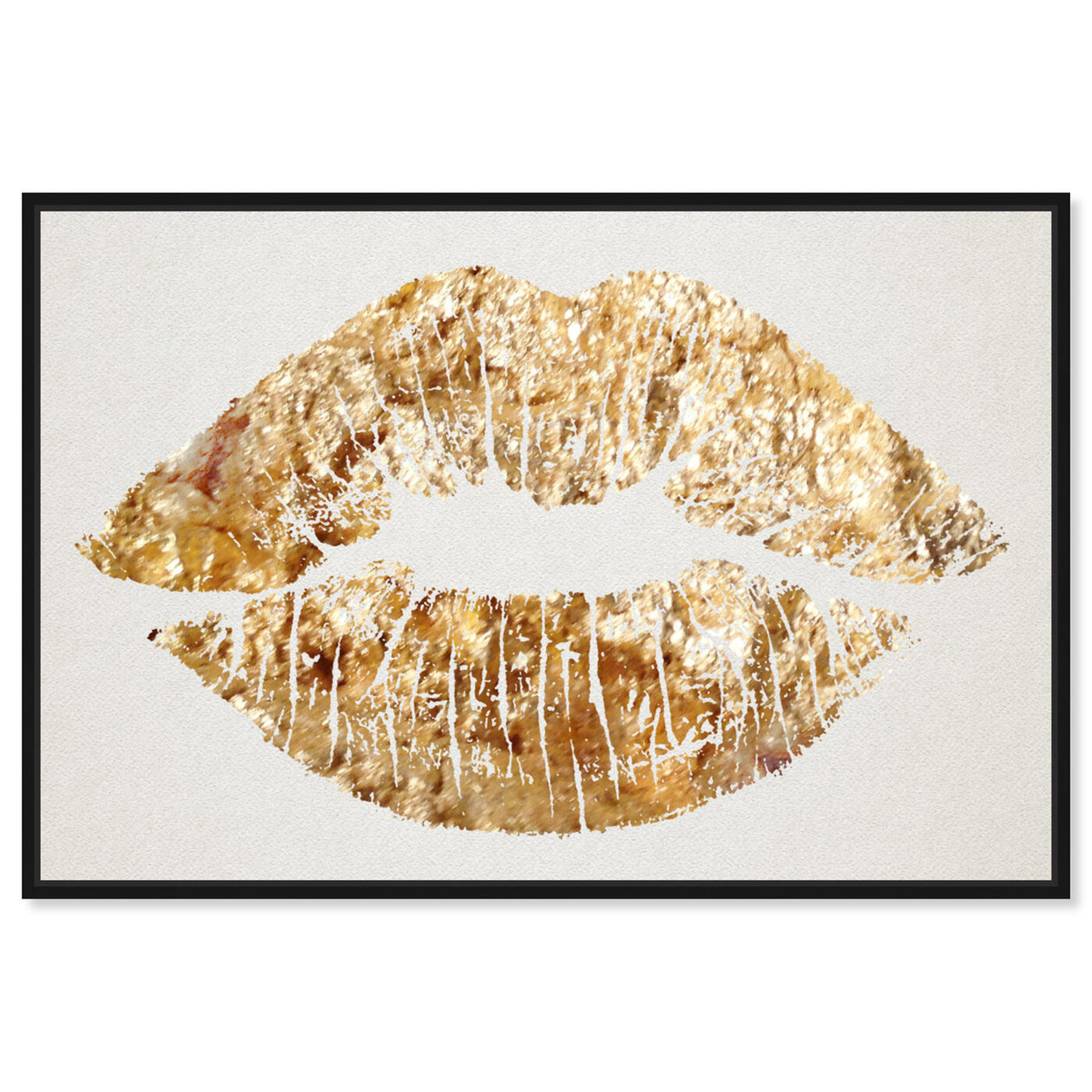 Front view of Solid Kiss featuring fashion and glam and lips art.