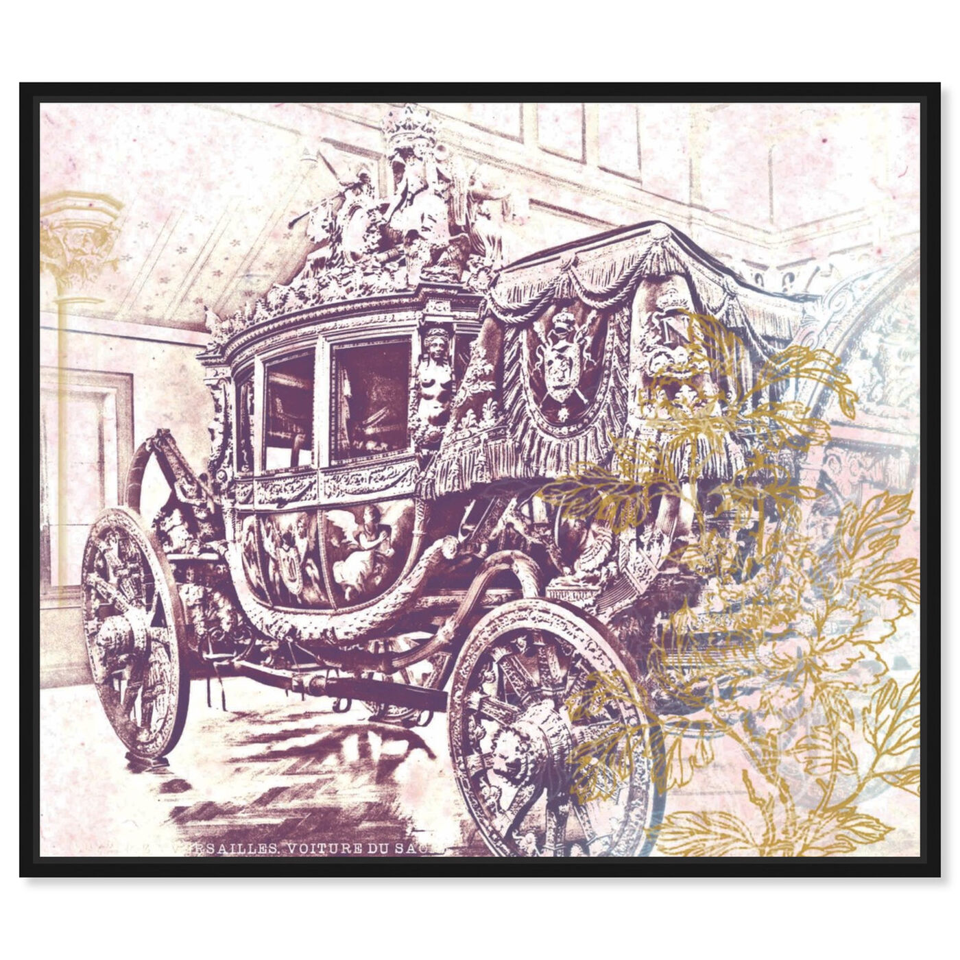 Front view of Charles X Carriage featuring classic and figurative and classic art.