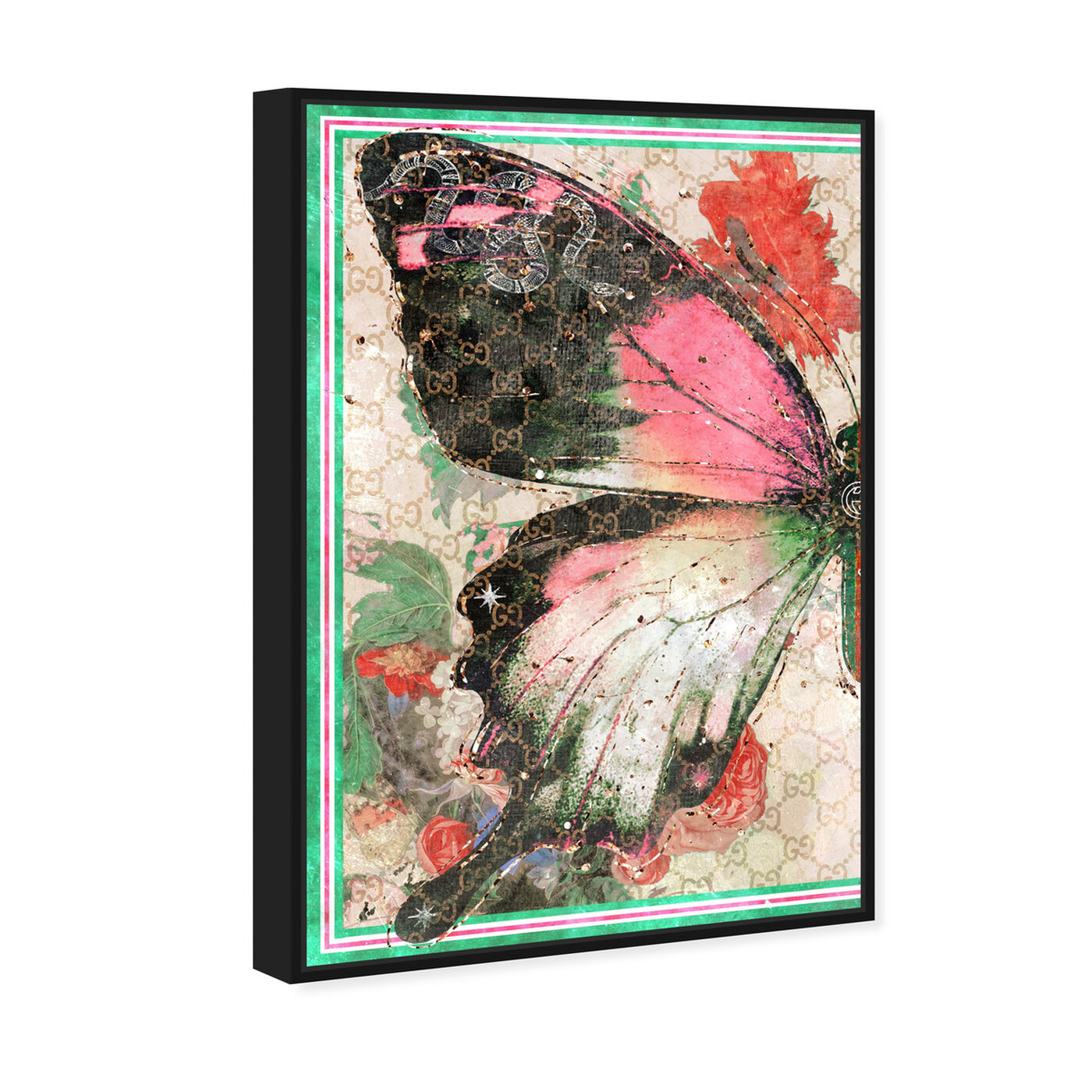 Angled view of Butterfly Effect Symbol I featuring animals and insects art.