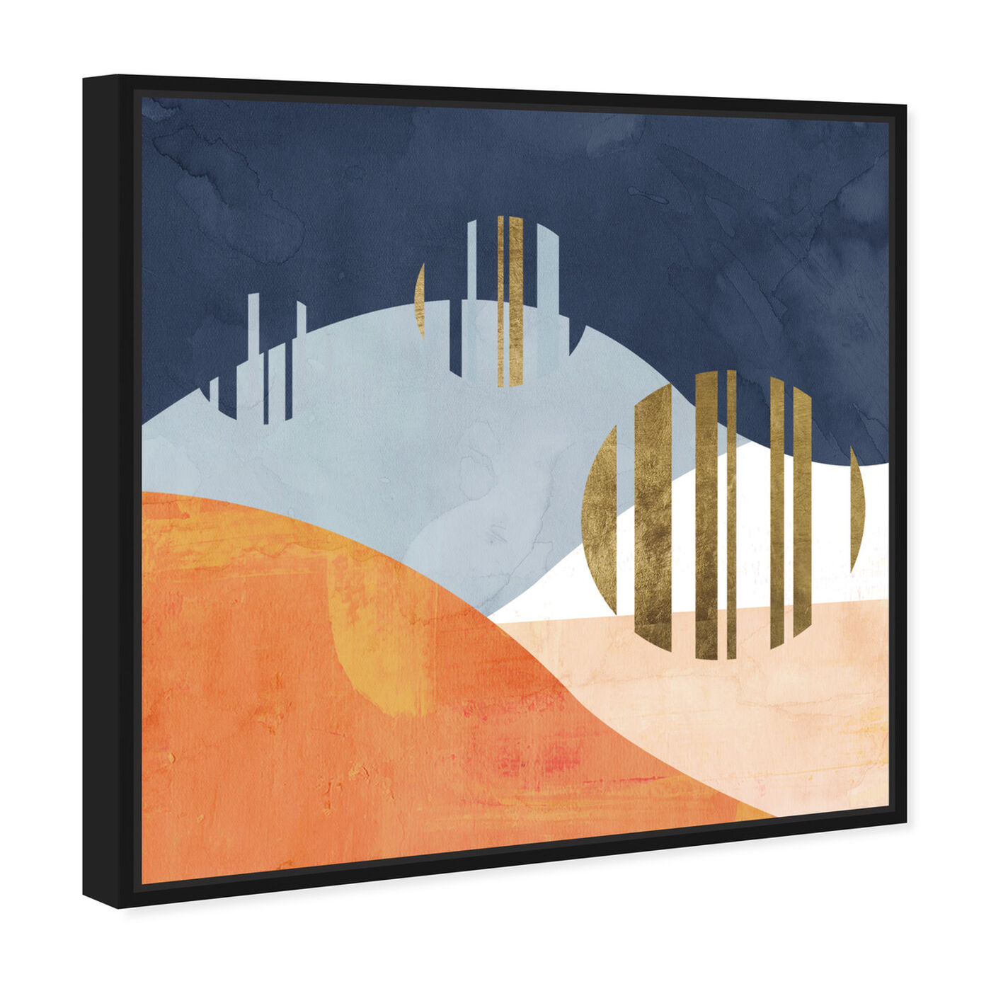 Angled view of The Desert Night featuring abstract and geometric art.