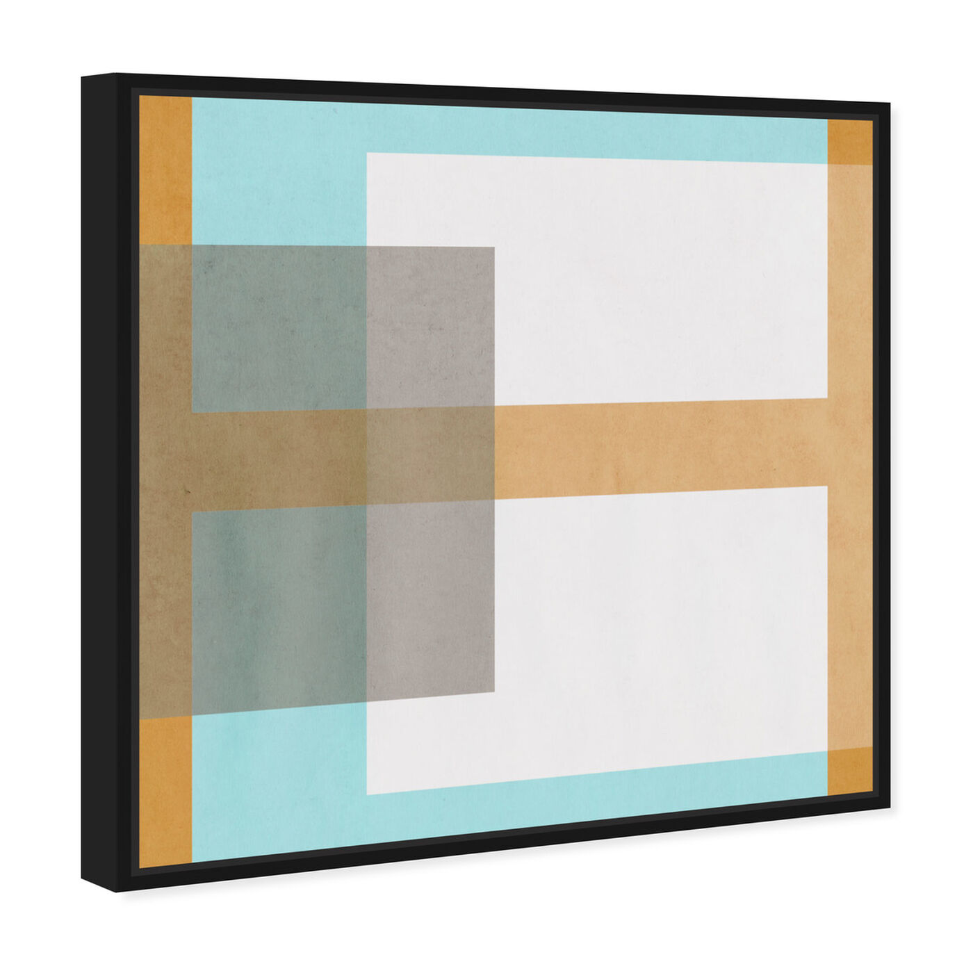 Angled view of Cortado de Verano featuring abstract and geometric art.