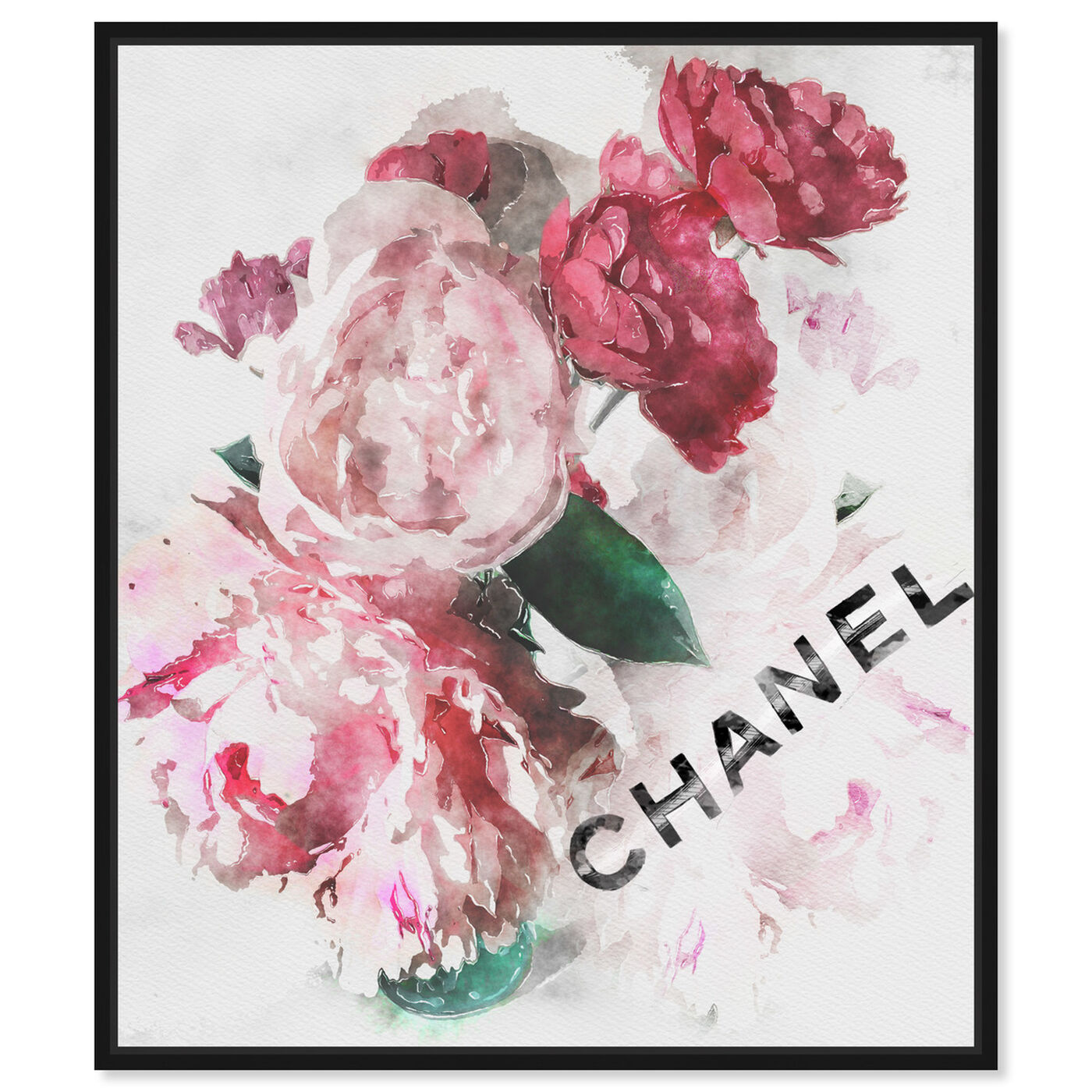 Front view of French Peony Vase featuring fashion and glam and fashion lifestyle art.