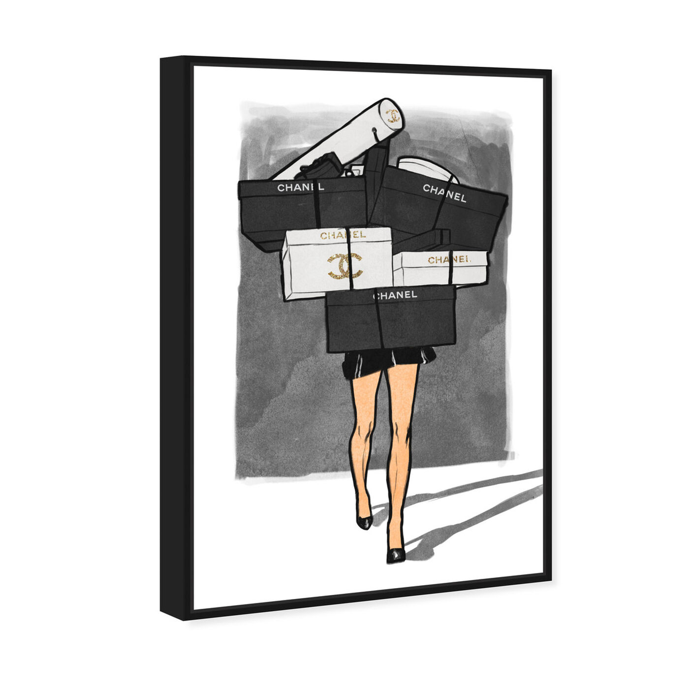 Angled view of French Gifts Overload featuring fashion and glam and dress art.