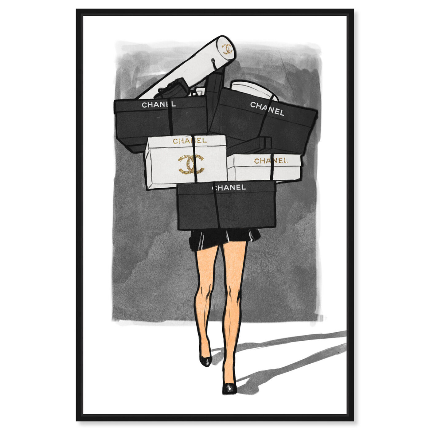 Front view of French Gifts Overload featuring fashion and glam and dress art.