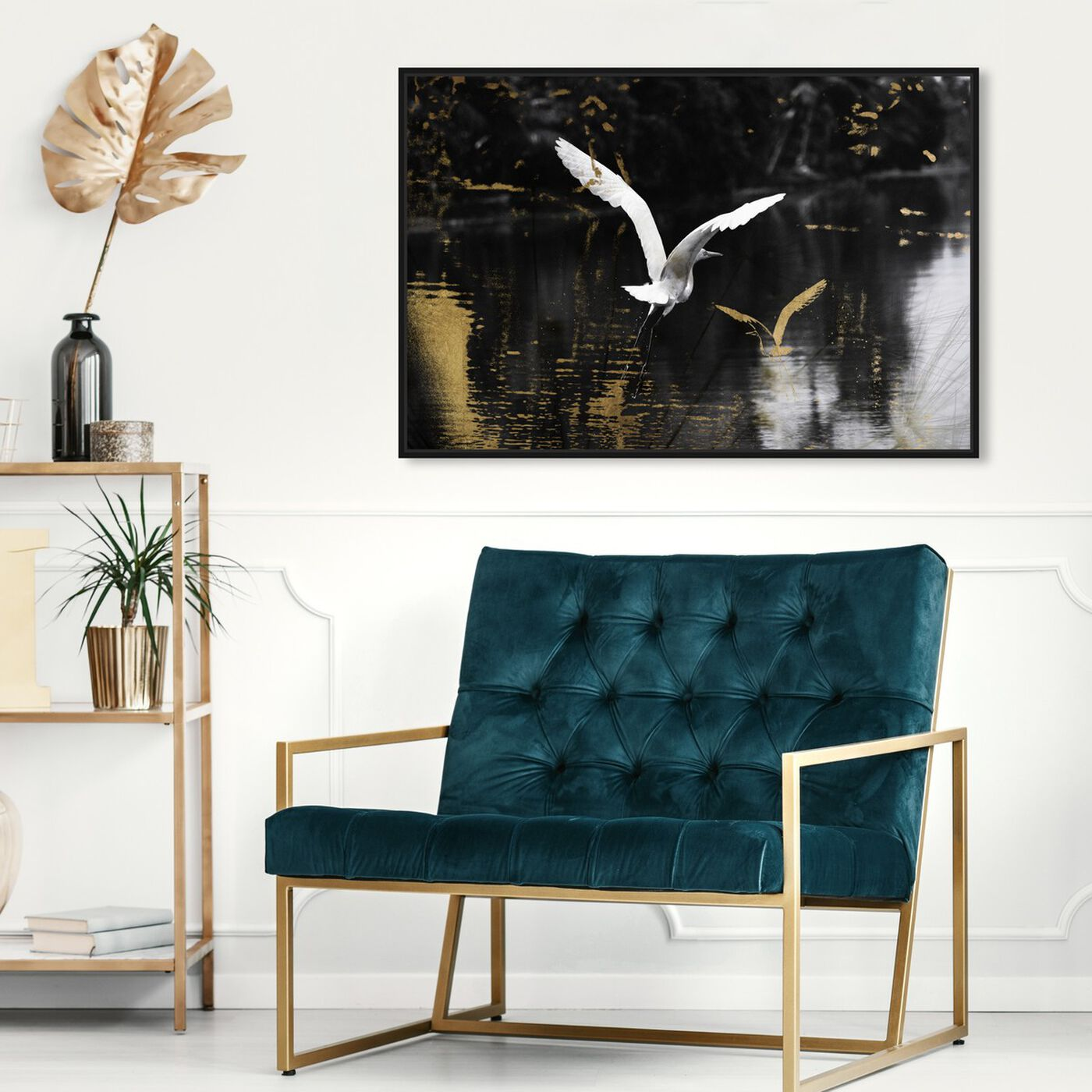 Hanging view of Nature in Glam featuring animals and birds art.