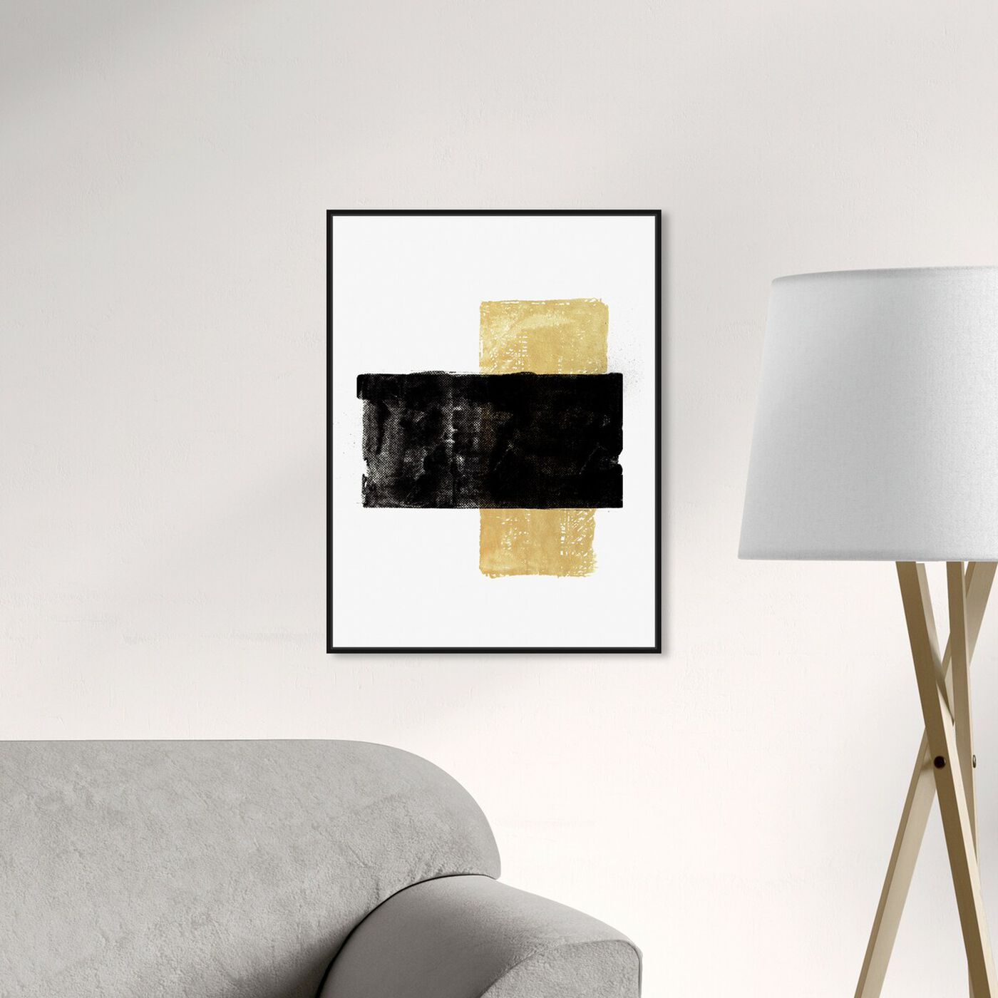 Hanging view of Ochre Reed featuring abstract and paint art.
