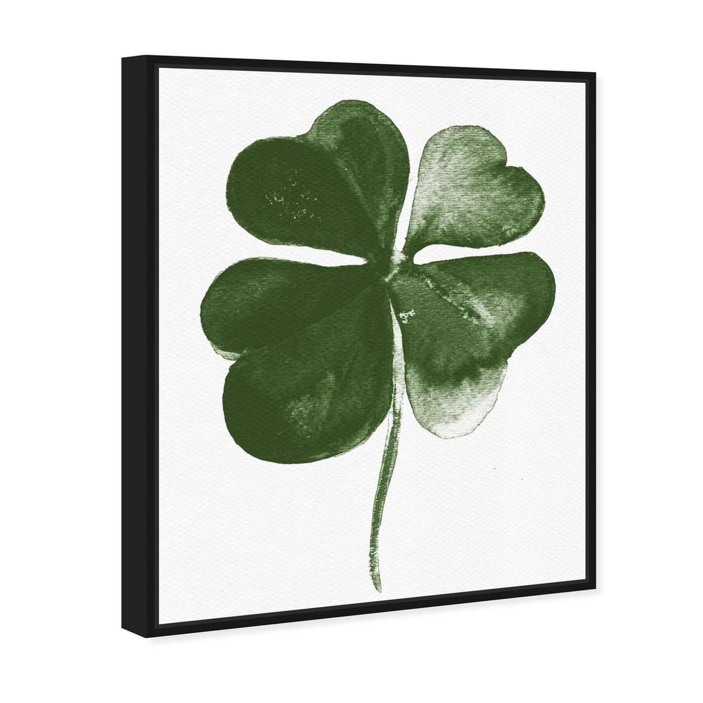Angled view of Four Leaf Clover featuring floral and botanical and botanicals art.