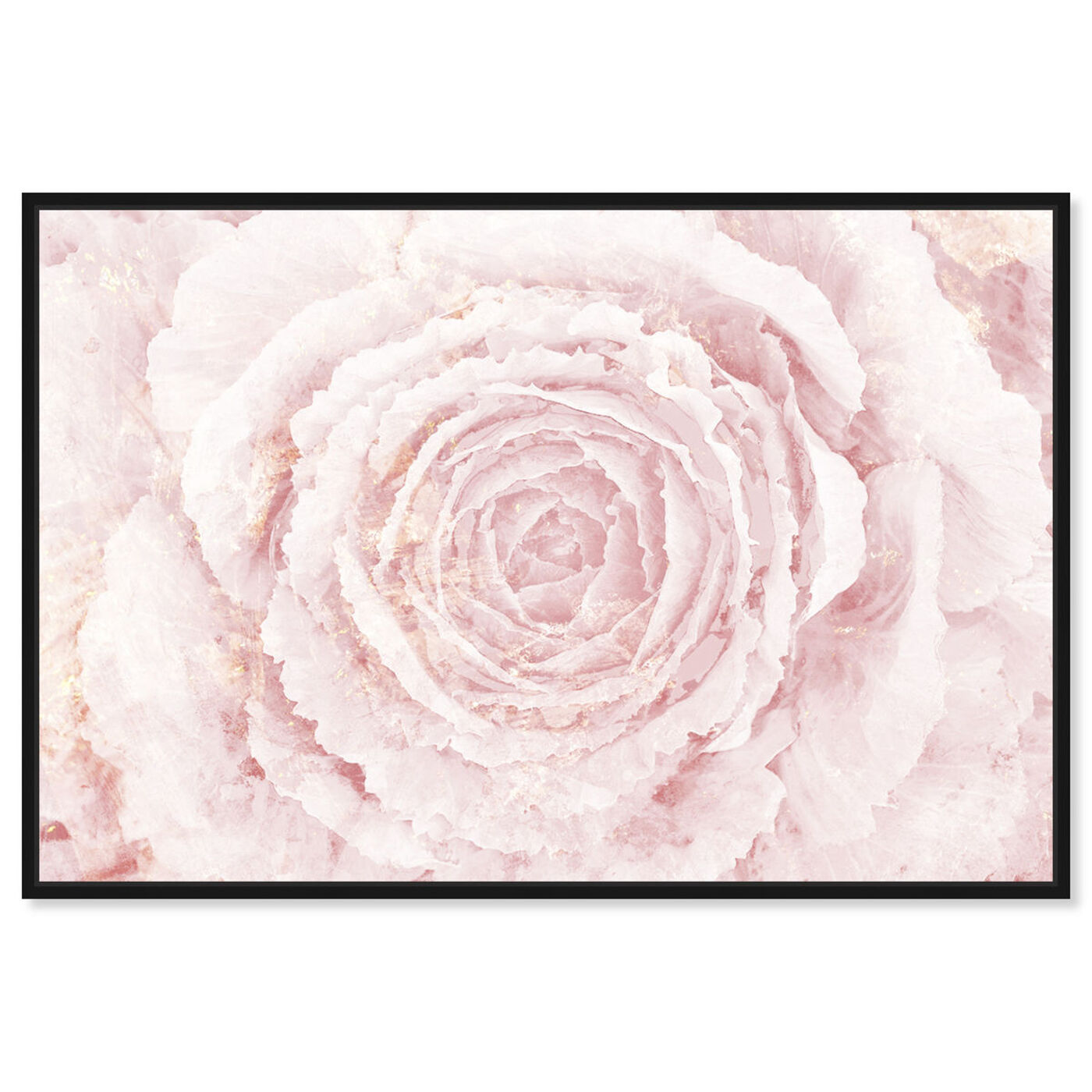 Front view of Blush Winter Flower Pink featuring floral and botanical and florals art.