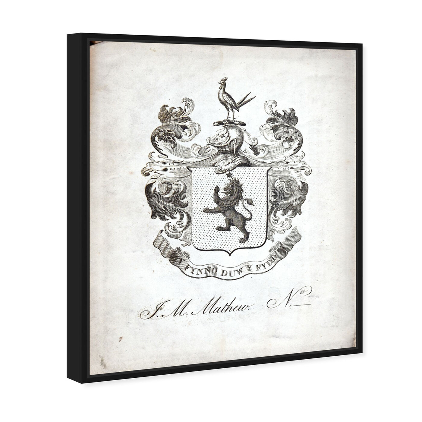 Angled view of Armorial Engravings IV featuring world and countries and european cultures art.