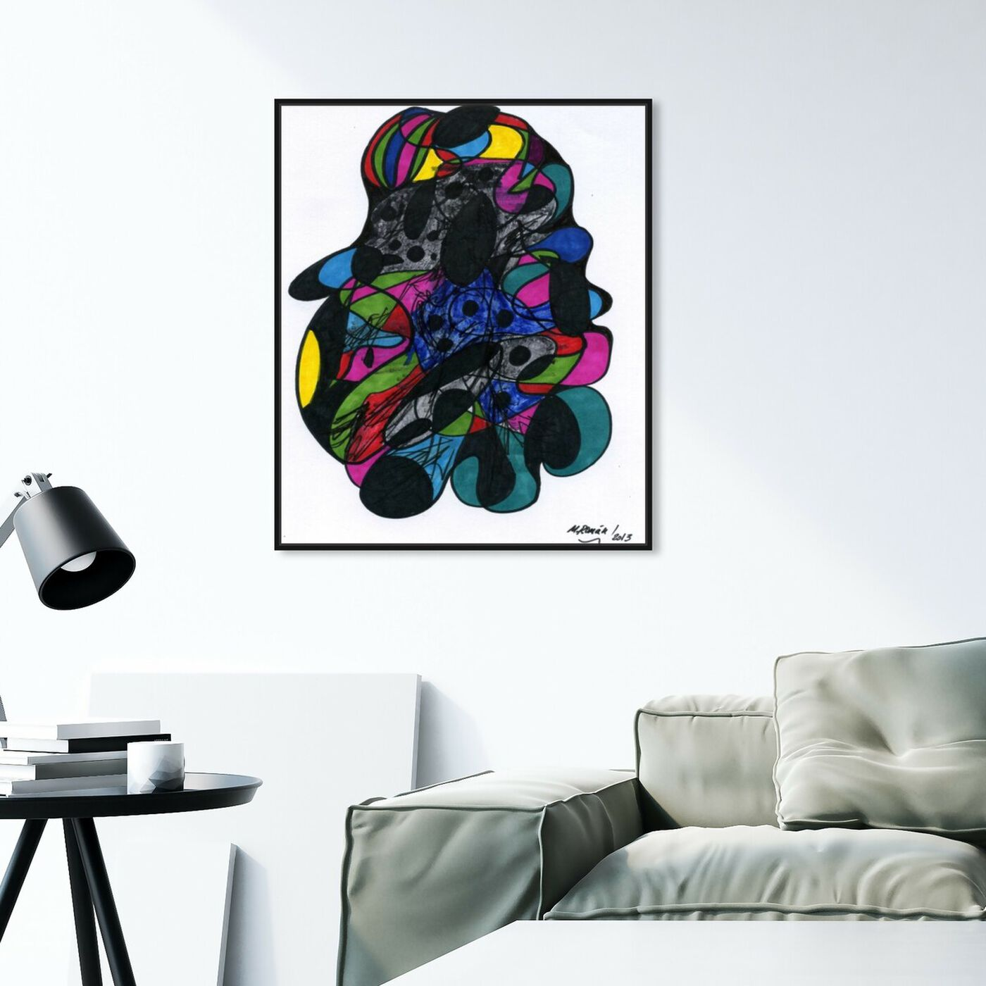 Hanging view of Nebulos featuring abstract and geometric art.