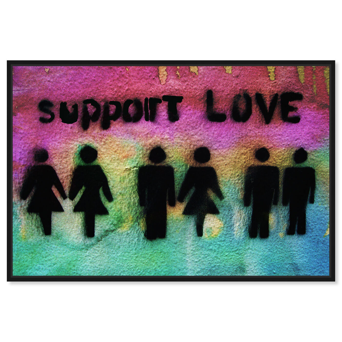 Front view of Support Love featuring typography and quotes and love quotes and sayings art.