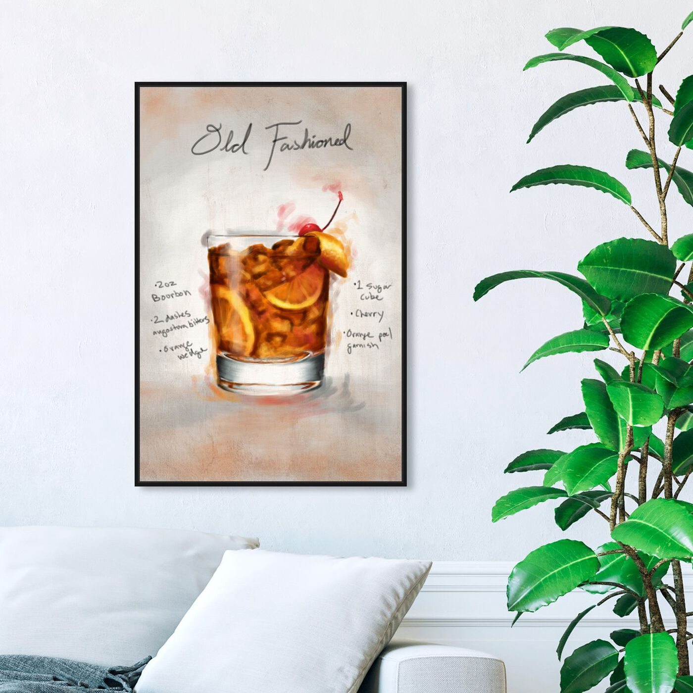 Hanging view of Old Fashioned featuring drinks and spirits and cocktails art.