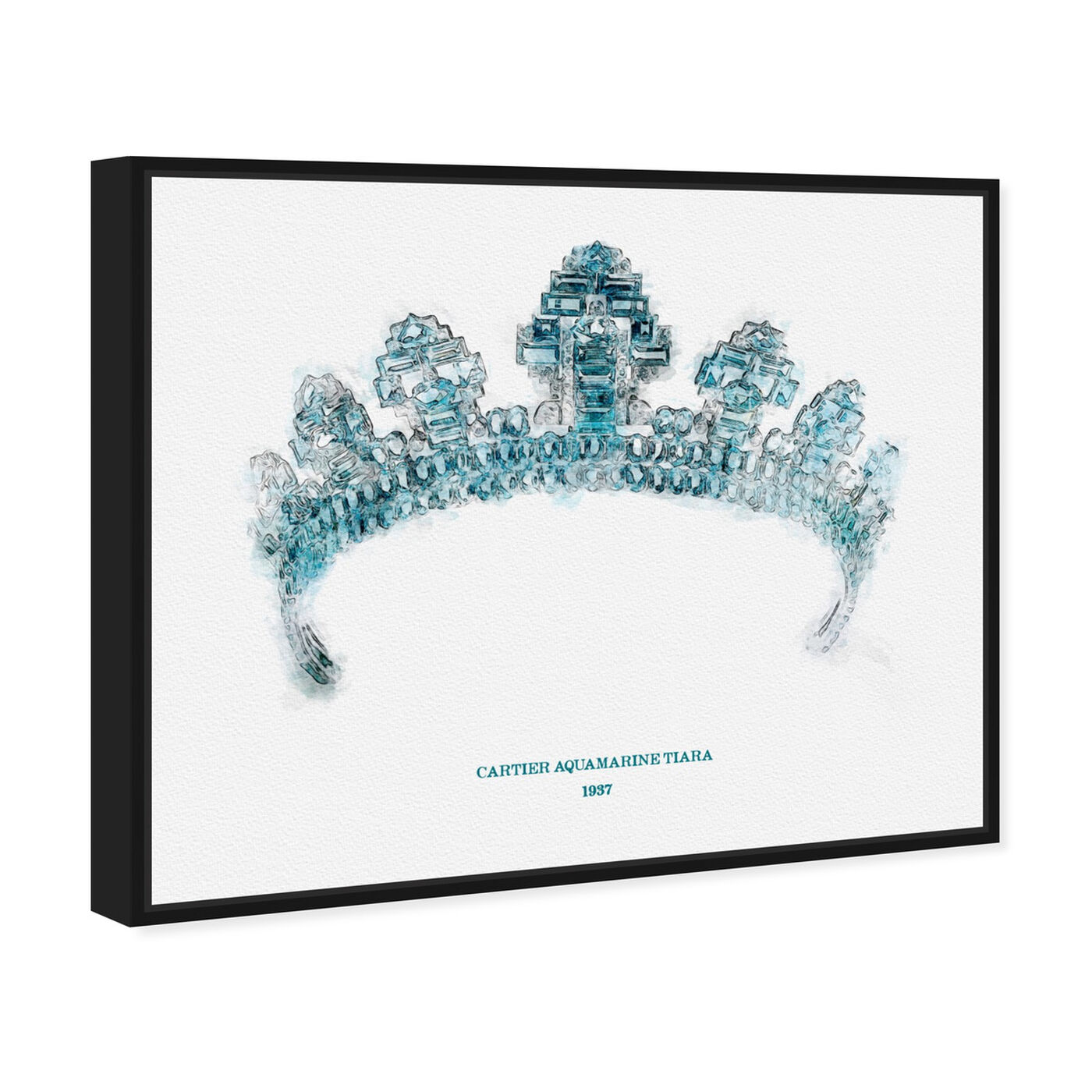 Angled view of Aquamarine Tiara 1937 featuring fantasy and sci-fi and fairy tales art.