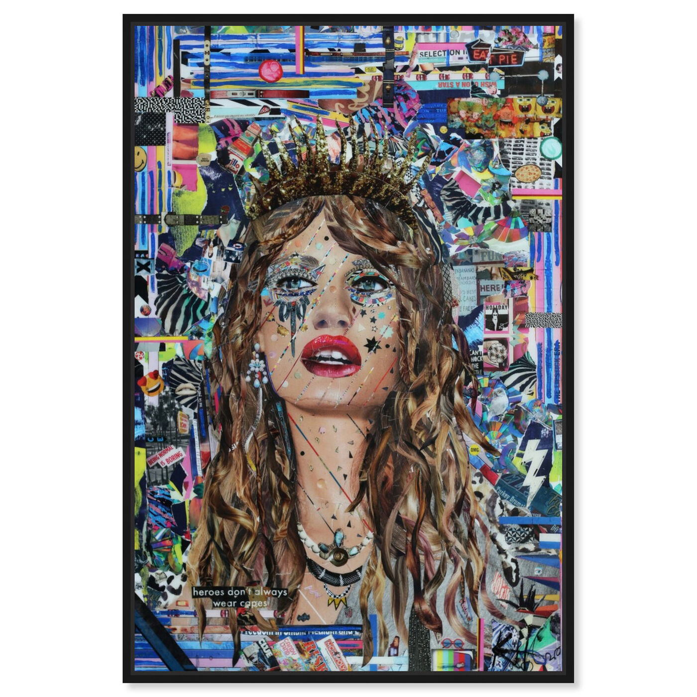 Front view of Heroes by Katy Hirschfeld featuring fashion and glam and portraits art.