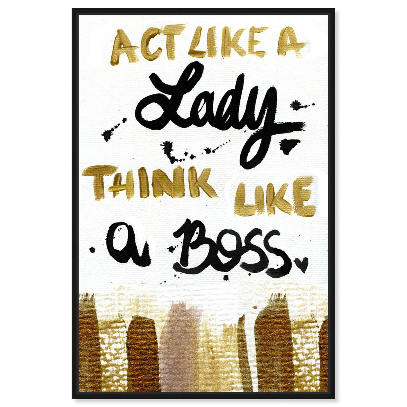 Front view of Boss Lady  featuring typography and quotes and empowered women quotes and sayings art.