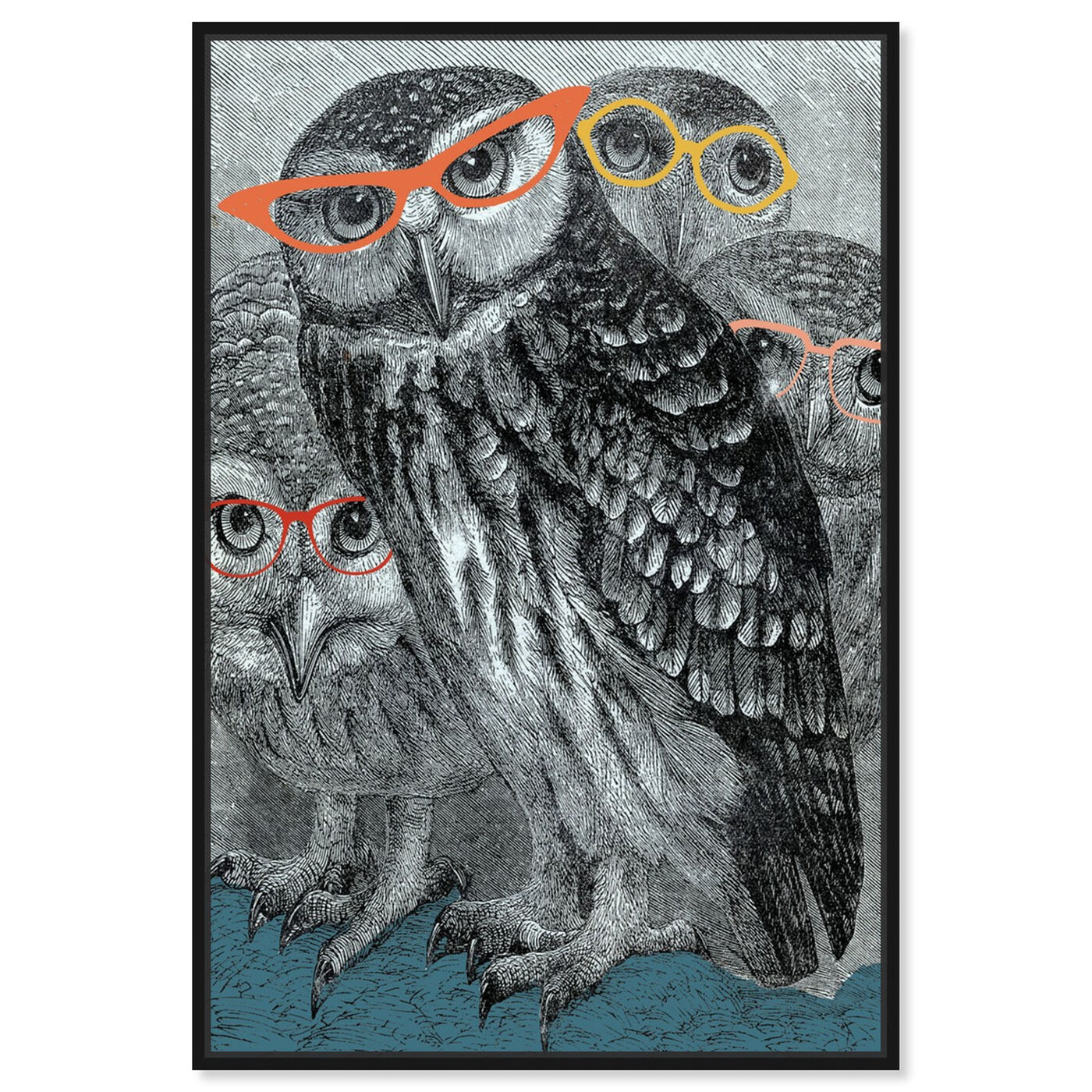 Front view of All Eyes On Us featuring animals and birds art.