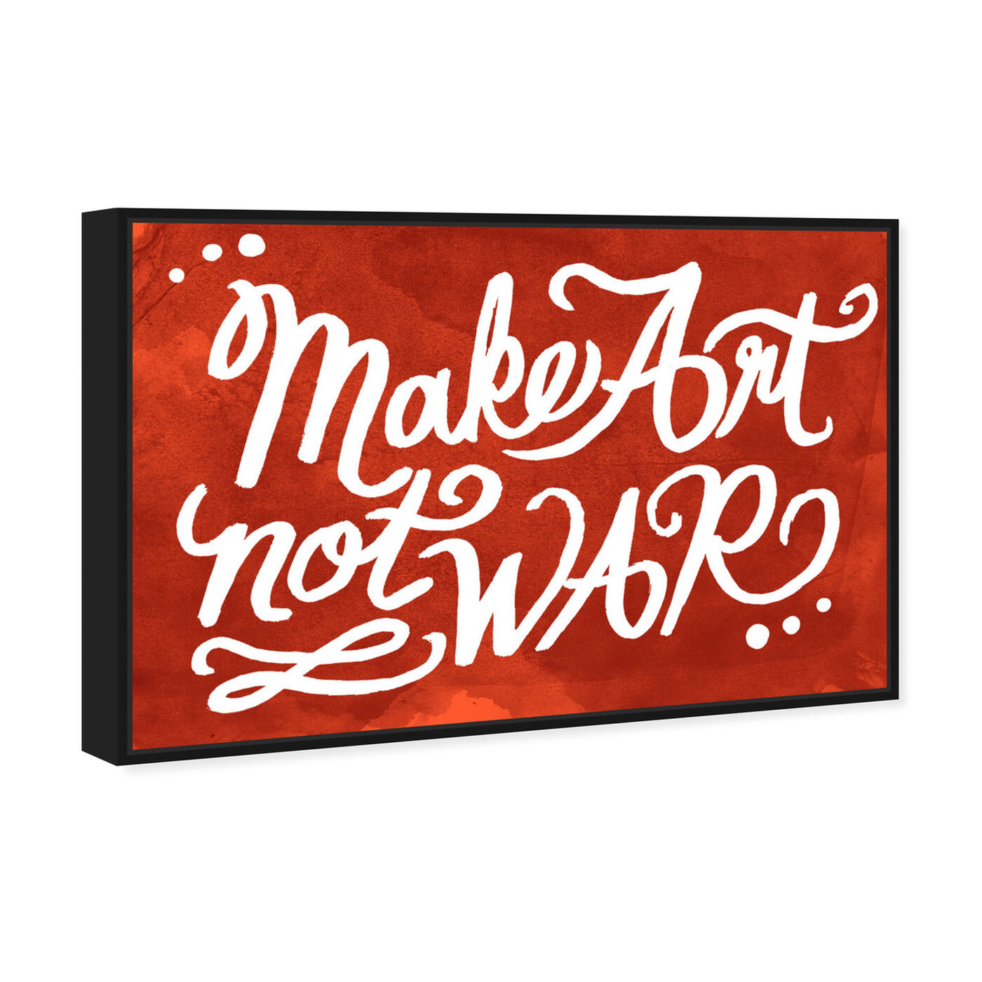 Angled view of Make Art featuring typography and quotes and quotes and sayings art.
