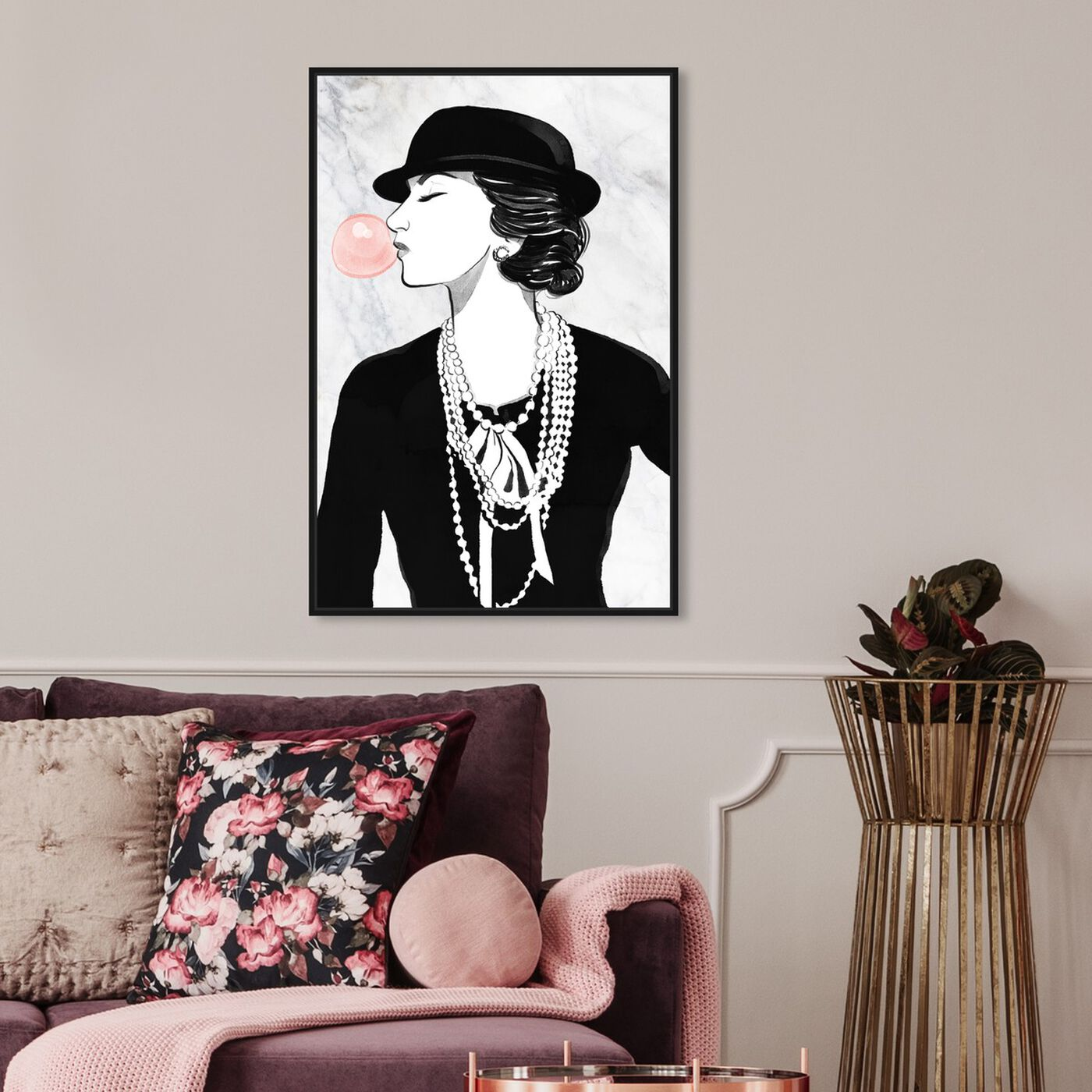 Hanging view of Glamorous Bubble Popper featuring fashion and glam and jewelry art.