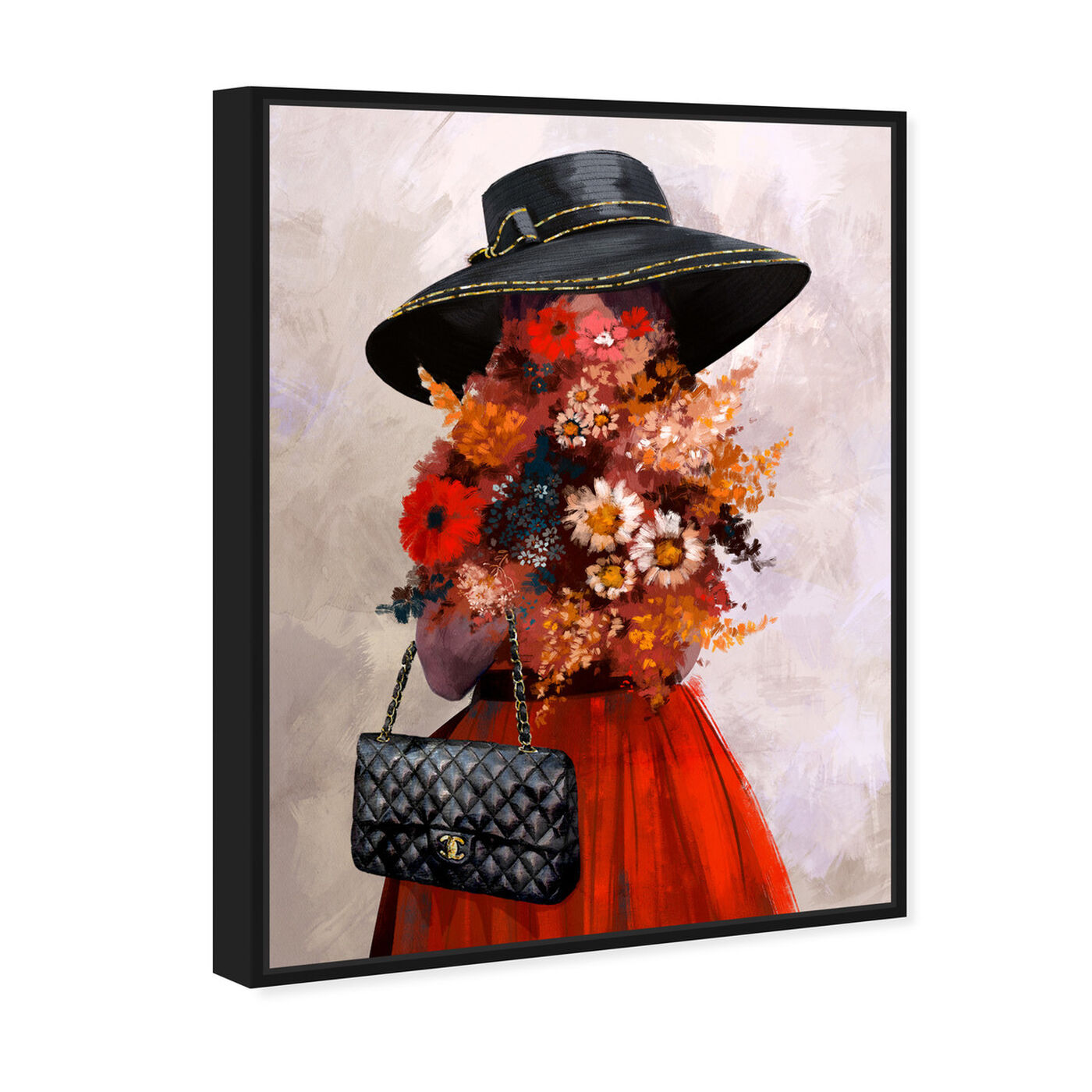 Angled view of Field of Flowers featuring fashion and glam and handbags art.