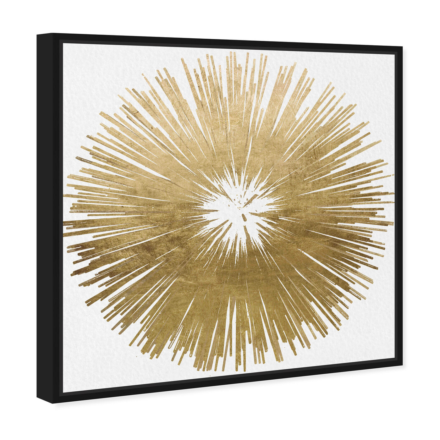Angled view of Sunburst Golden featuring symbols and objects and symbols art.